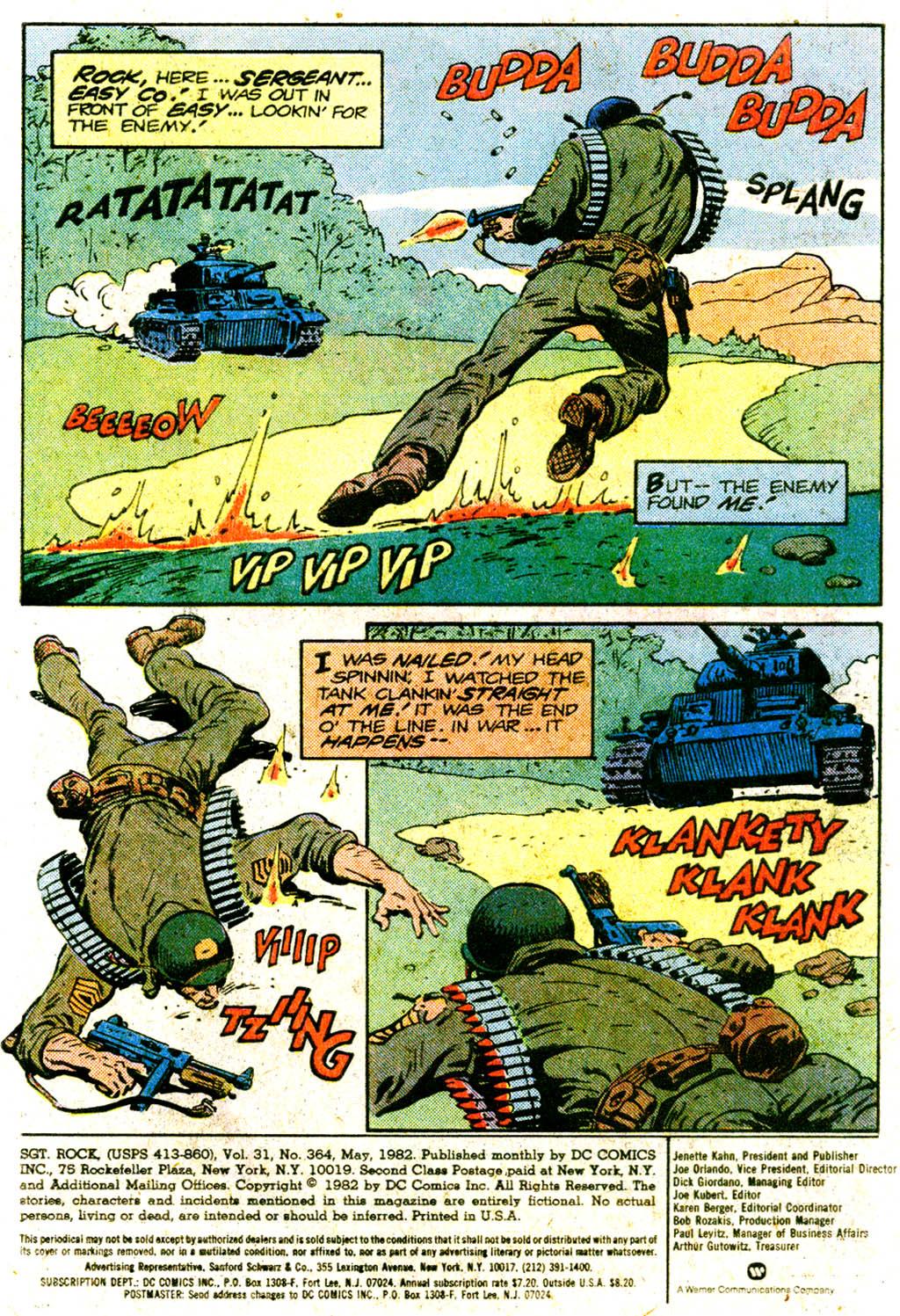 Read online Sgt. Rock comic -  Issue #364 - 3