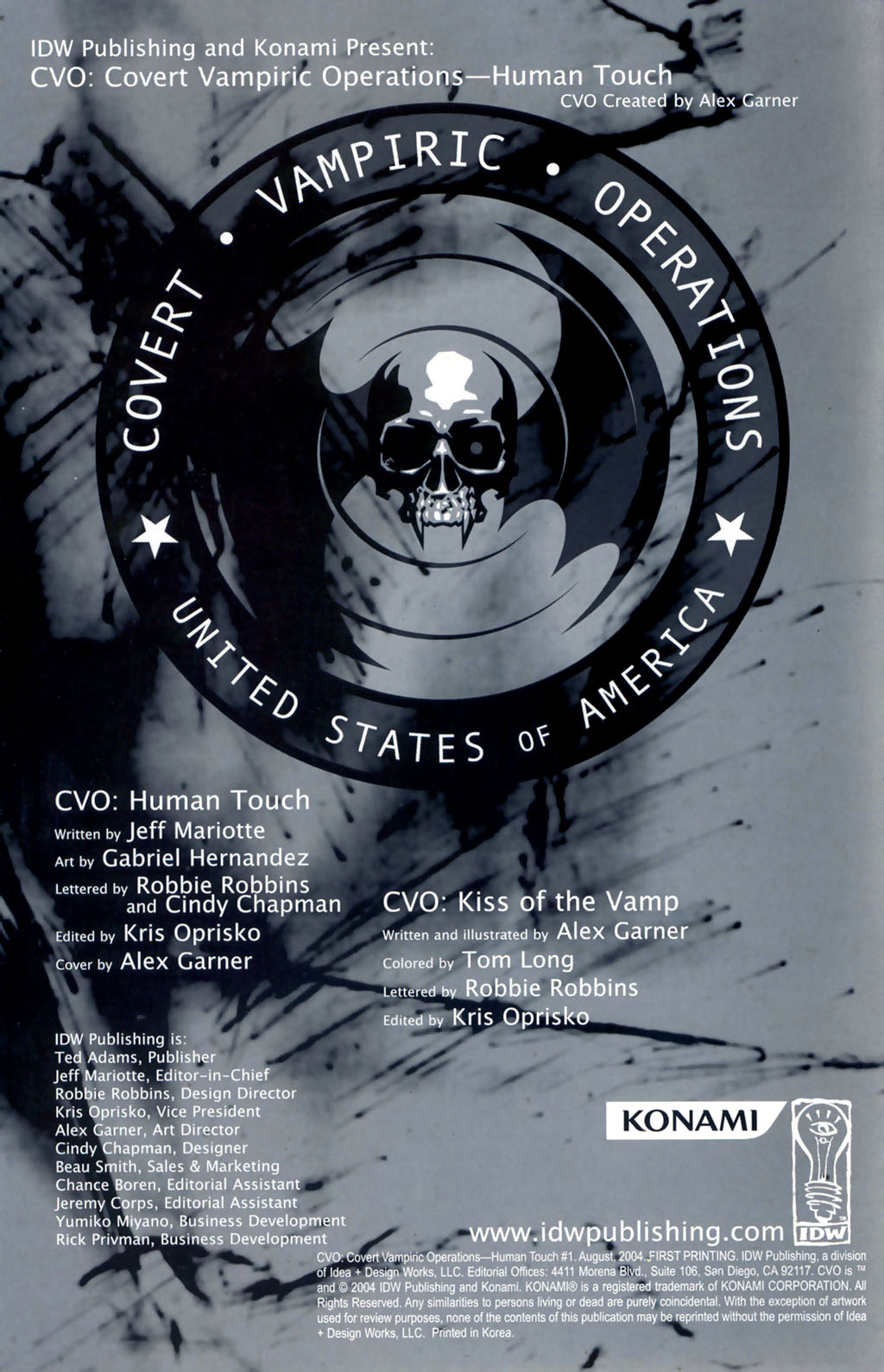 Read online CVO: Covert Vampiric Operations - Human Touch comic -  Issue # Full - 2