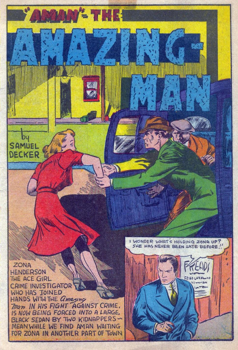 Read online Amazing Man Comics comic -  Issue #15 - 2