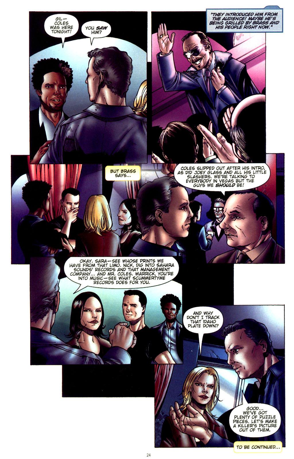 Read online CSI: Crime Scene Investigation: Bad Rap comic -  Issue #2 - 25
