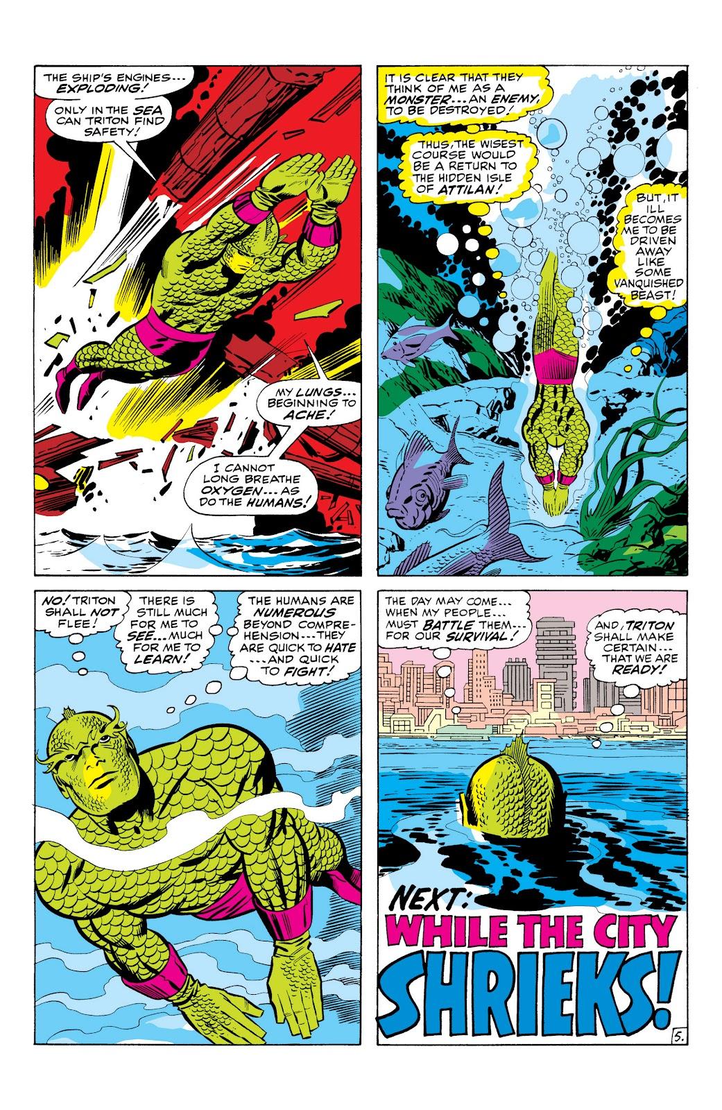 Read online Marvel Masterworks: The Inhumans comic -  Issue # TPB 1 (Part 1) - 37
