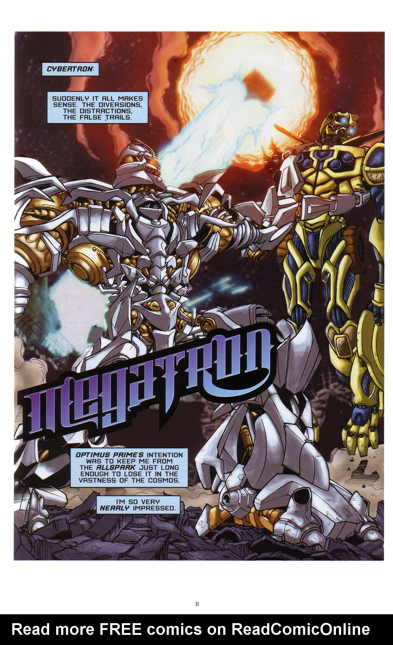 Read online Transformers: Saga of the Allspark comic -  Issue #1 - 12