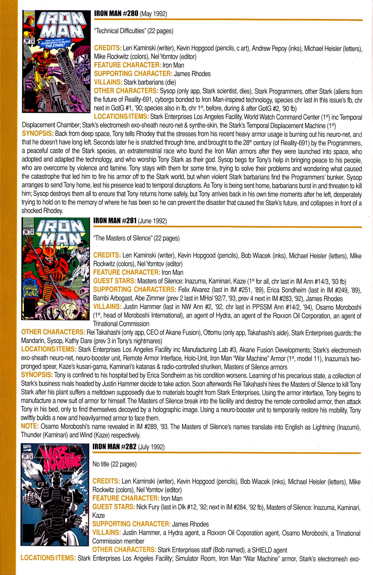 Read online Official Index to the Marvel Universe comic -  Issue #8 - 36