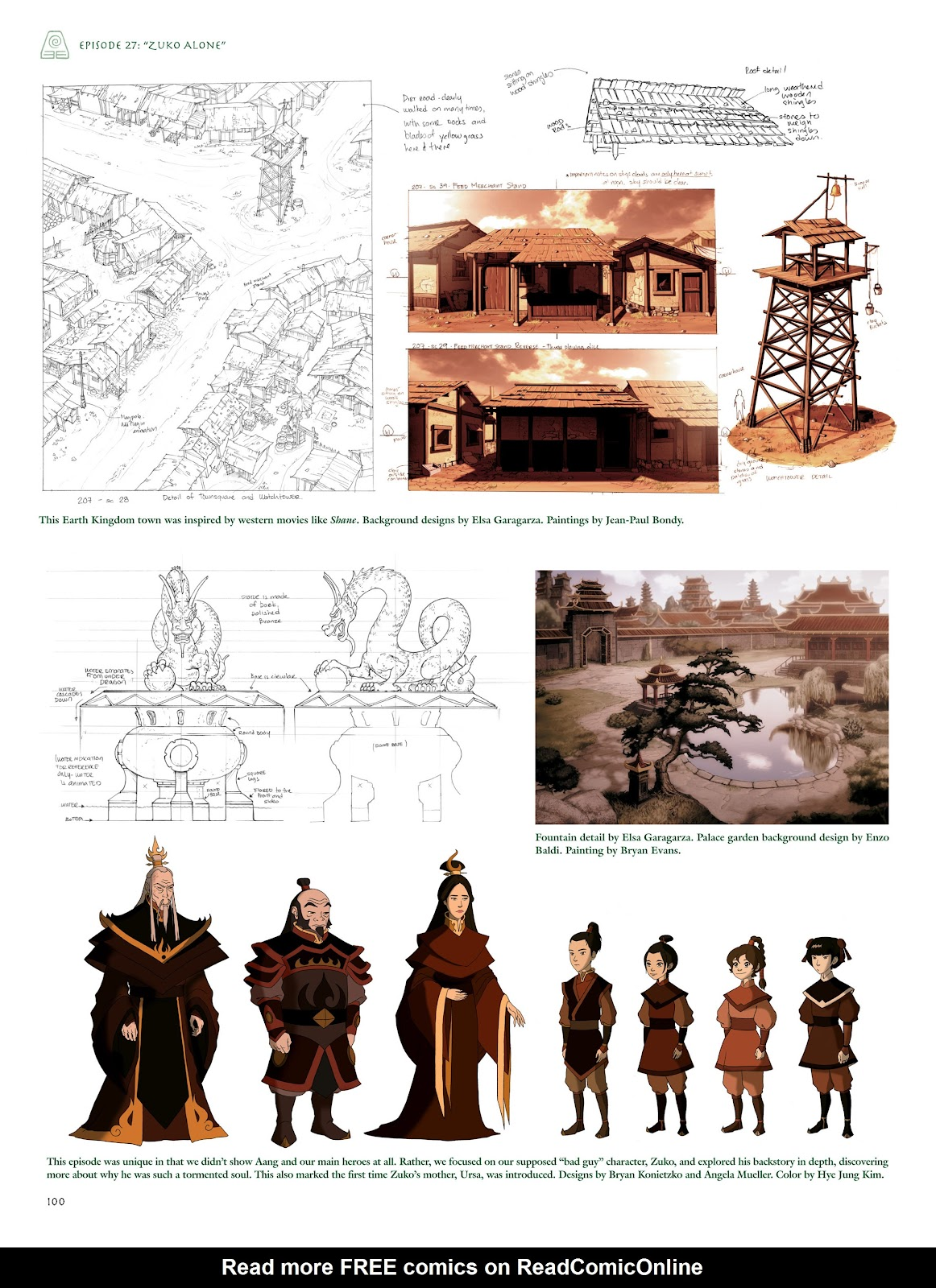 Read online Avatar: The Last Airbender - The Art of the Animated Series comic -  Issue # TPB (Part 1) - 99
