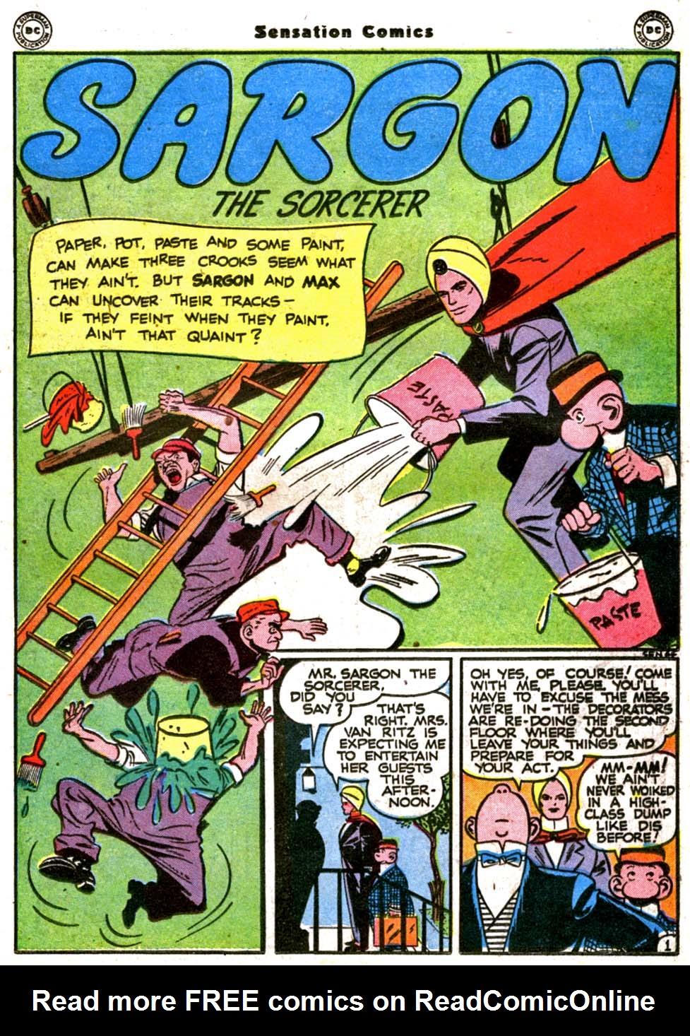 Read online Sensation (Mystery) Comics comic -  Issue #64 - 29
