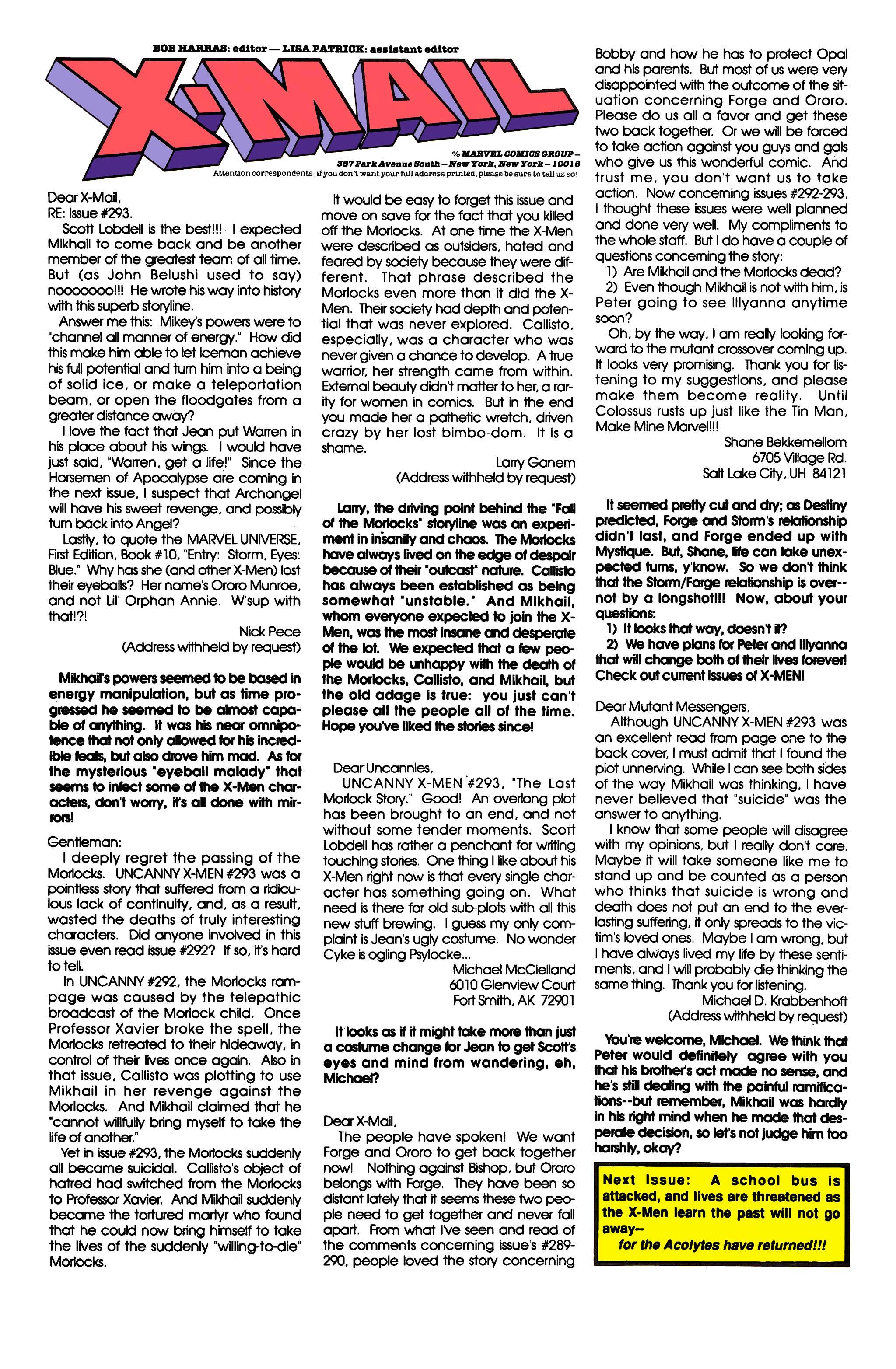 Read online Uncanny X-Men (1963) comic -  Issue #297 - 24