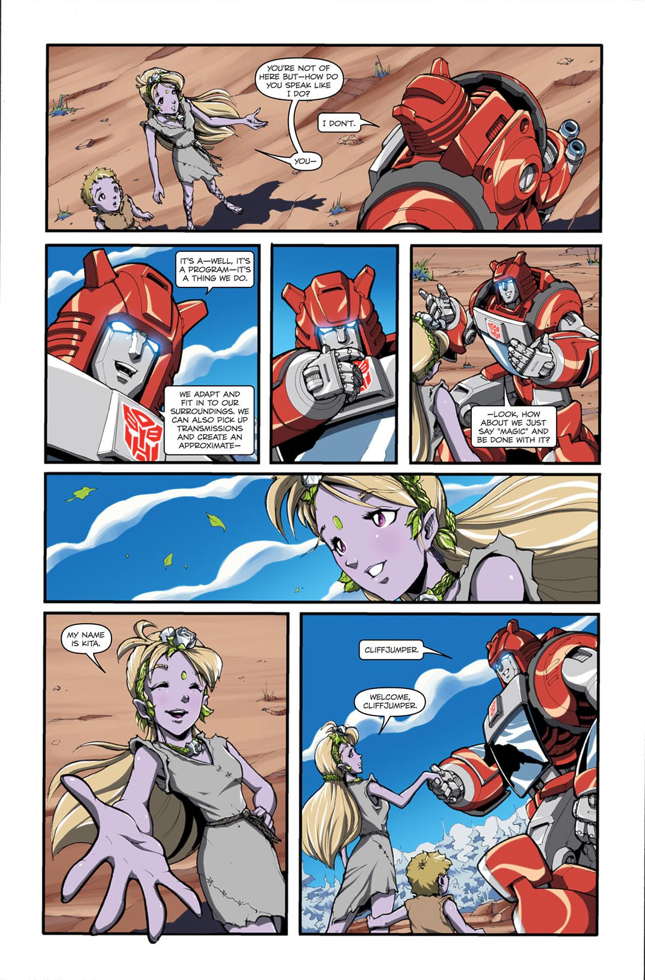 Read online Transformers Spotlight: Cliffjumper comic -  Issue # Full - 8