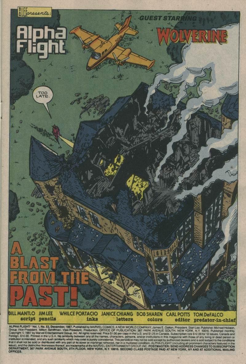 Read online Alpha Flight (1983) comic -  Issue #53 - 2