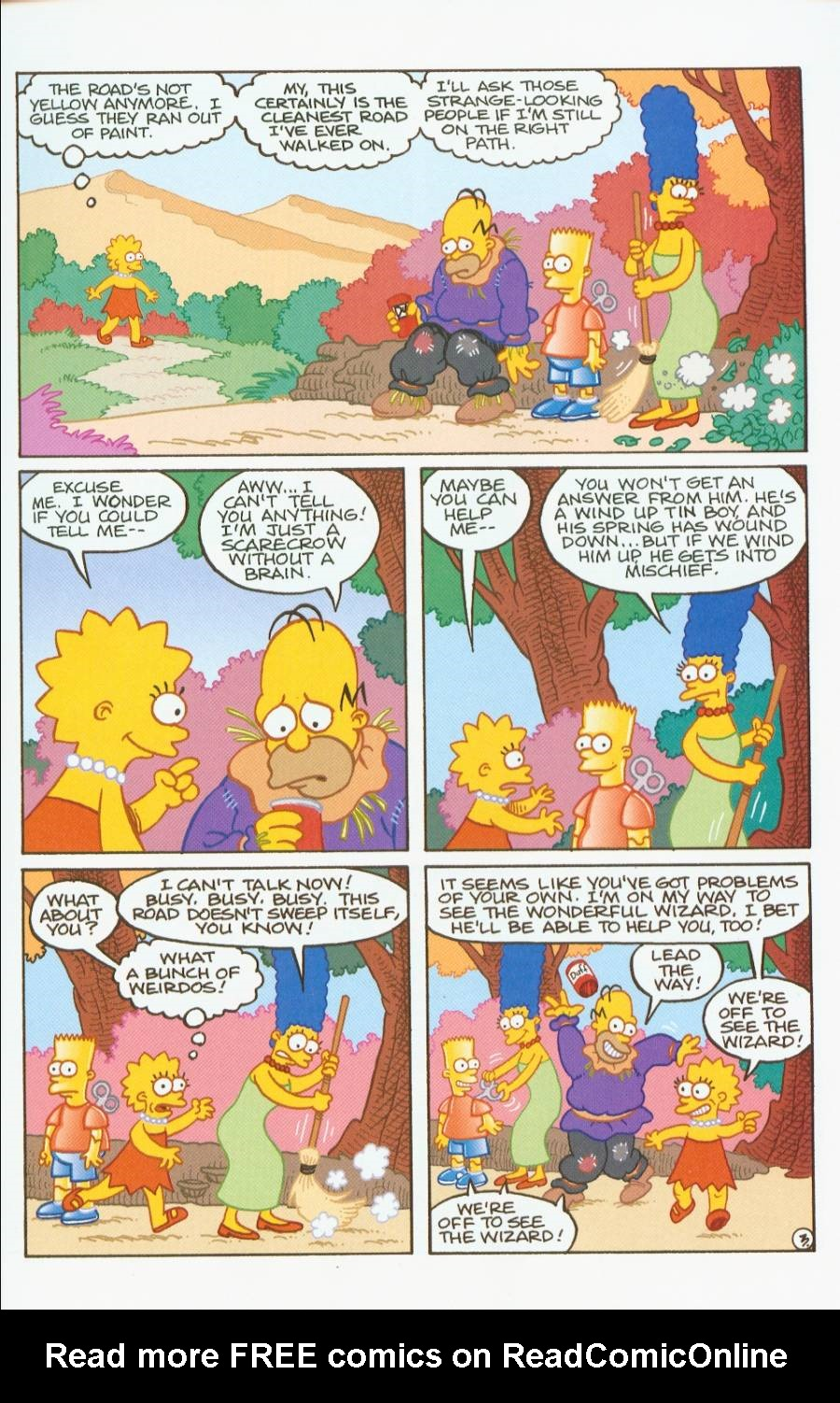 Read online Treehouse of Horror comic -  Issue #7 - 16