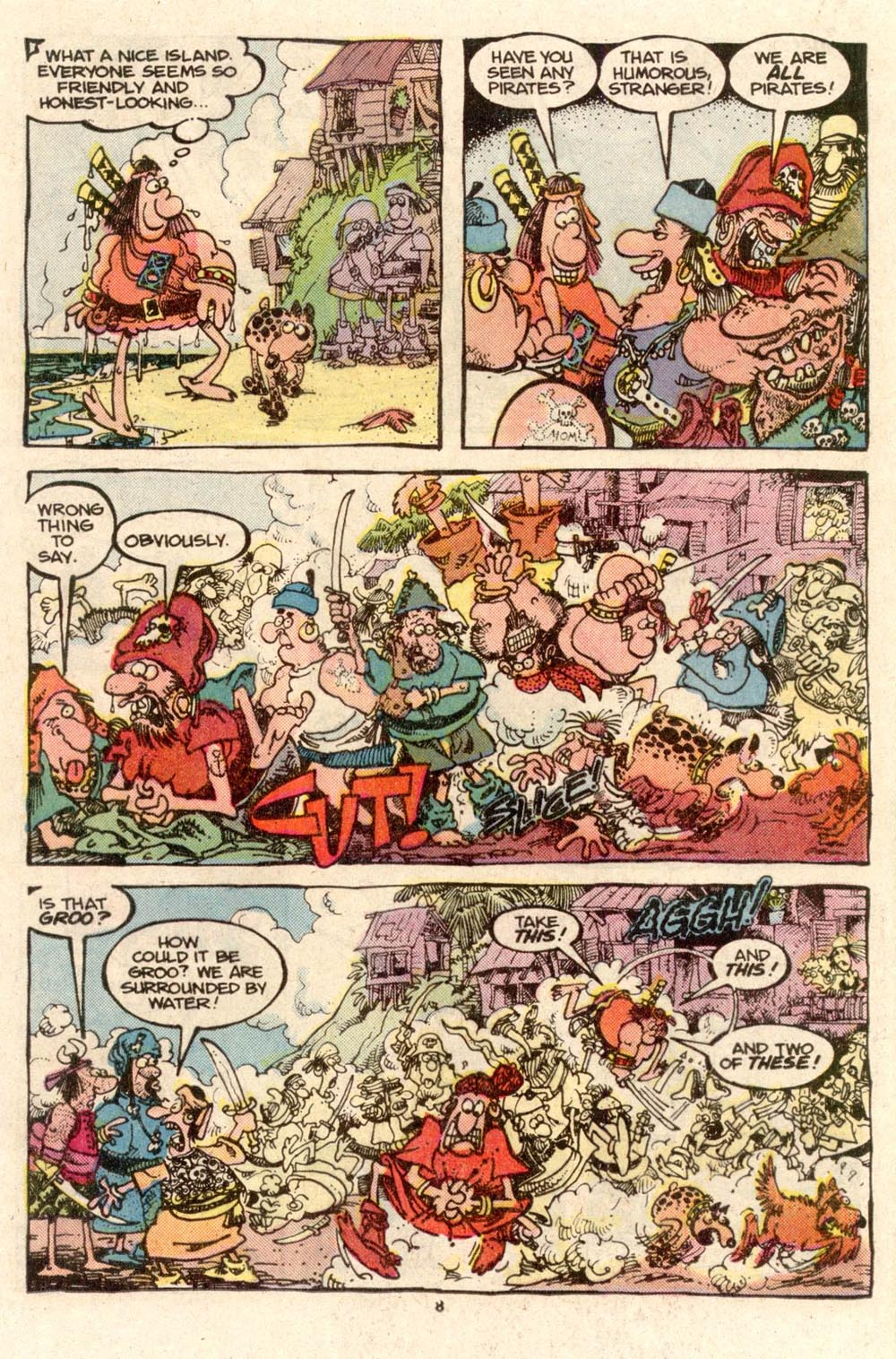 Read online Sergio Aragonés Groo the Wanderer comic -  Issue #33 - 8