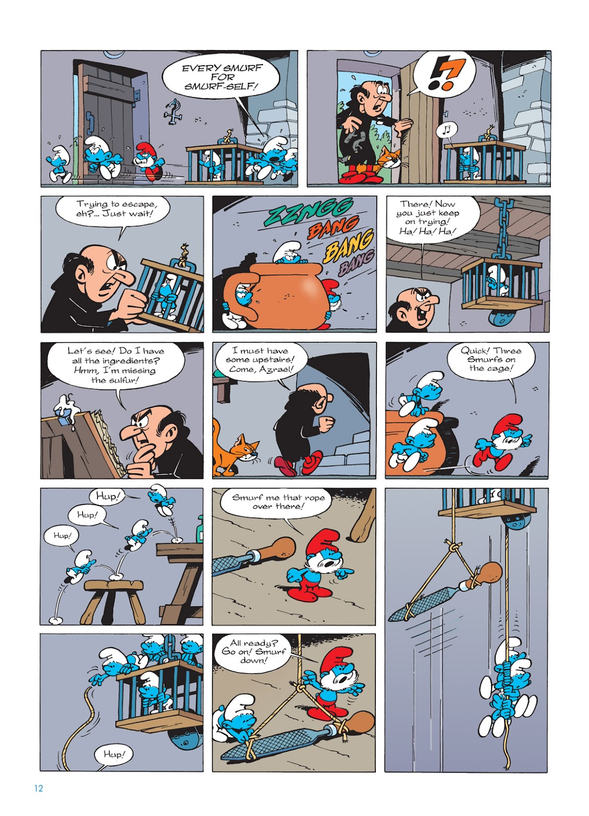 Read online The Smurfs comic -  Issue #9 - 12
