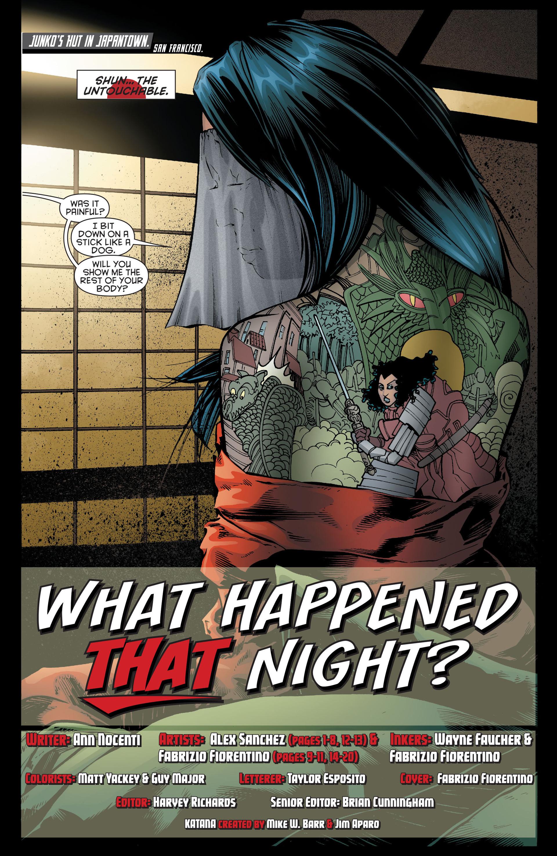 Read online Katana comic -  Issue #7 - 2