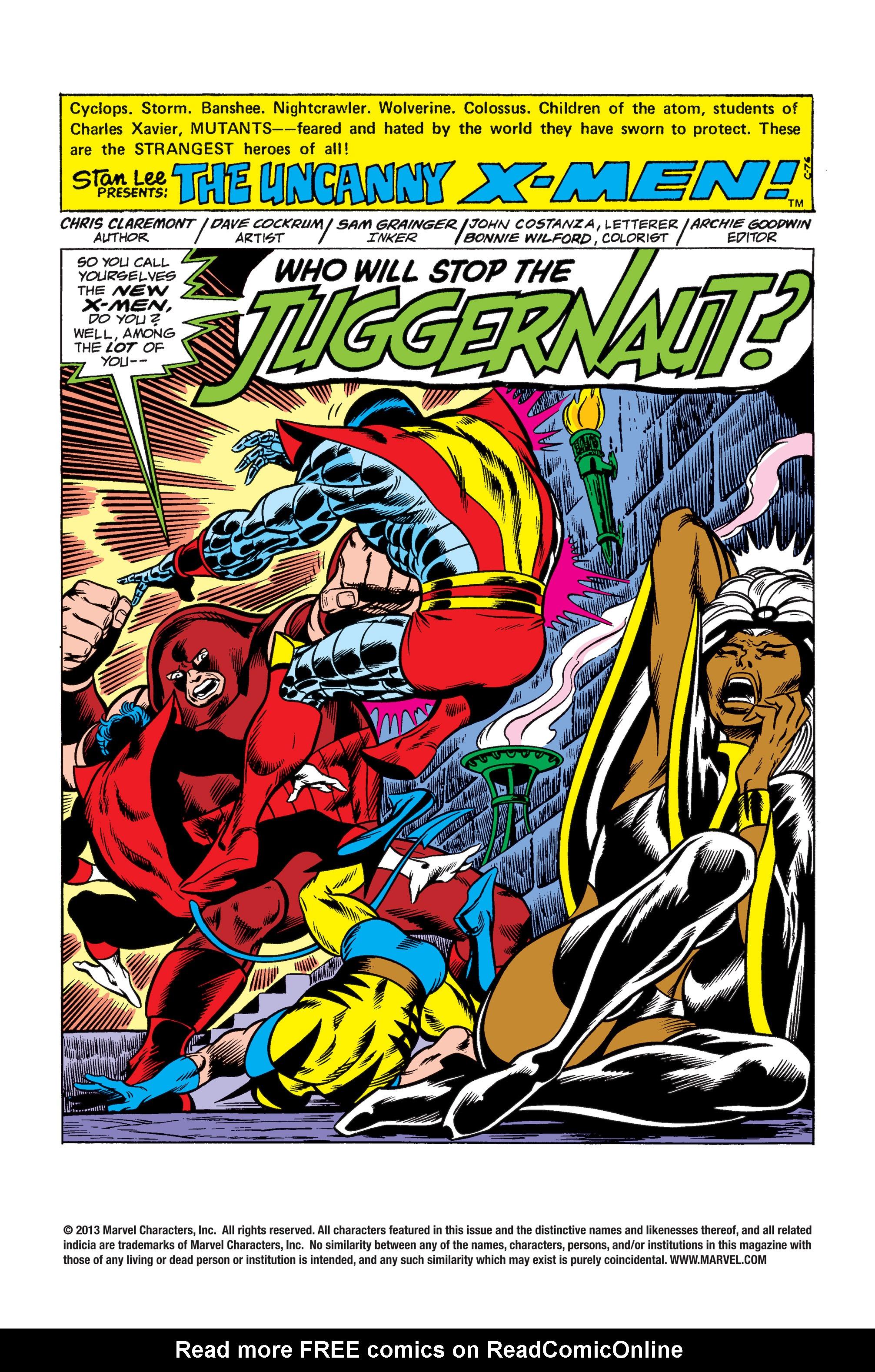 Uncanny X-Men (1963) 102 Page 1