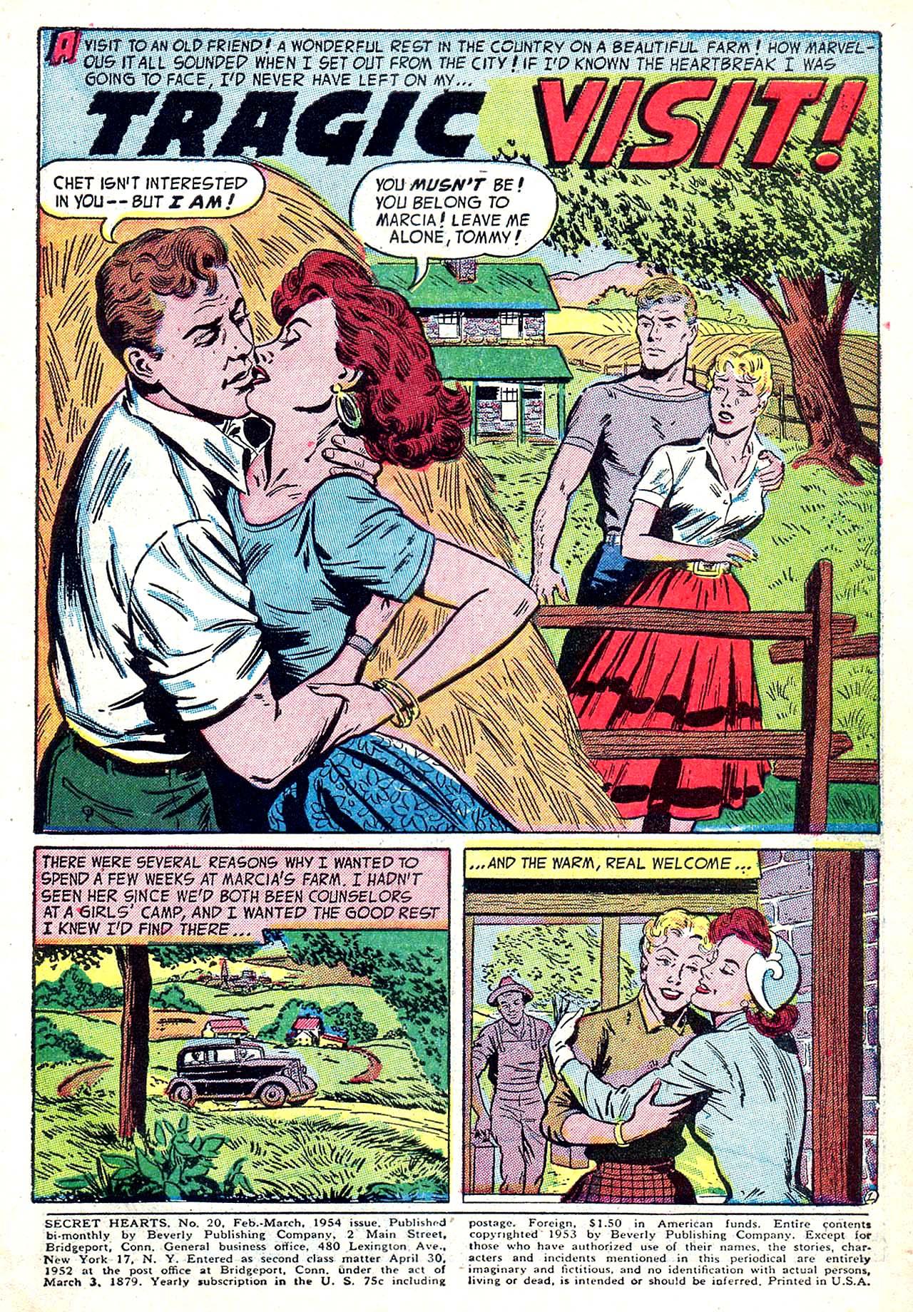 Read online Secret Hearts comic -  Issue #20 - 3