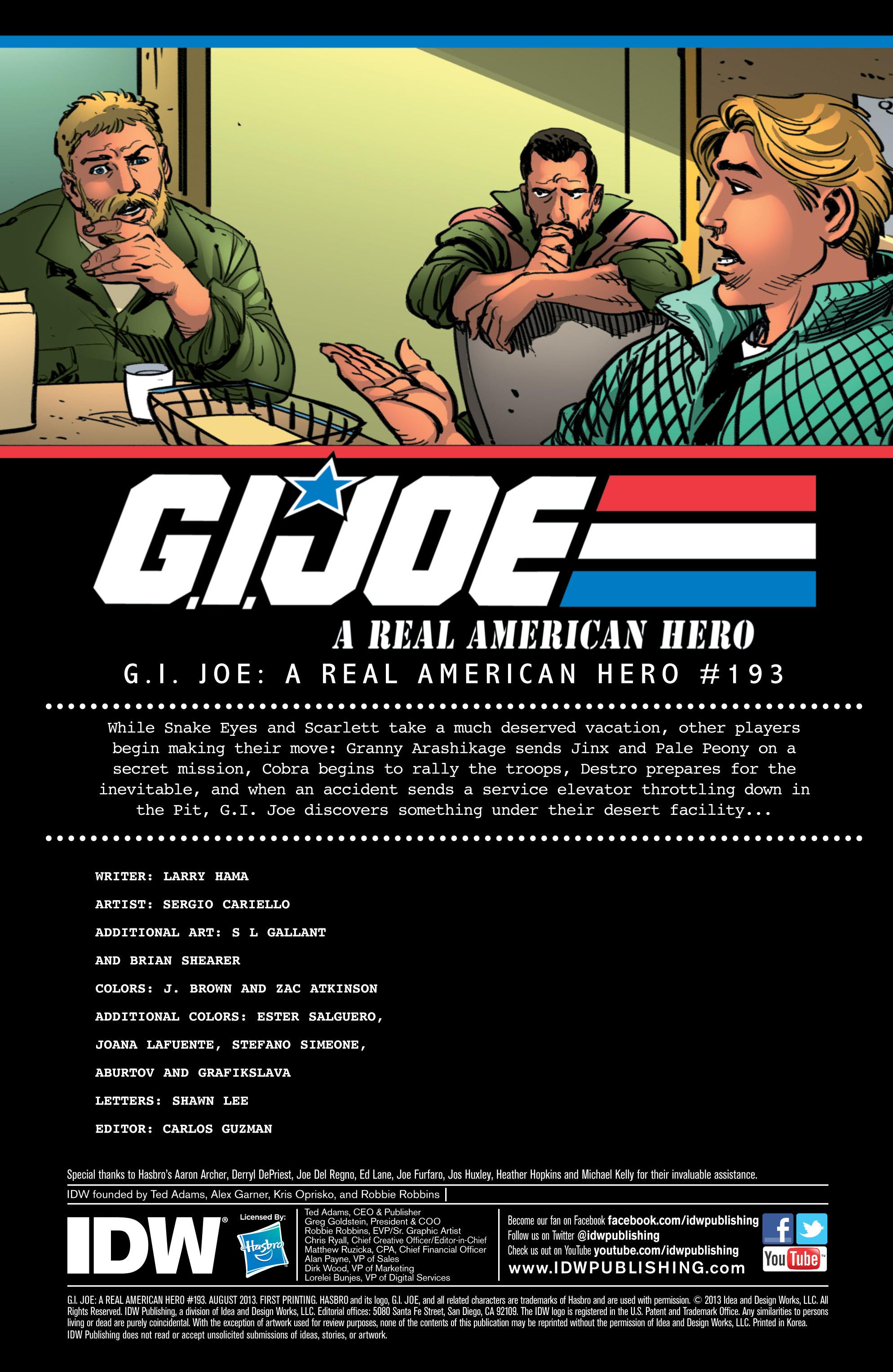 G.I. Joe: A Real American Hero 193 Page 1