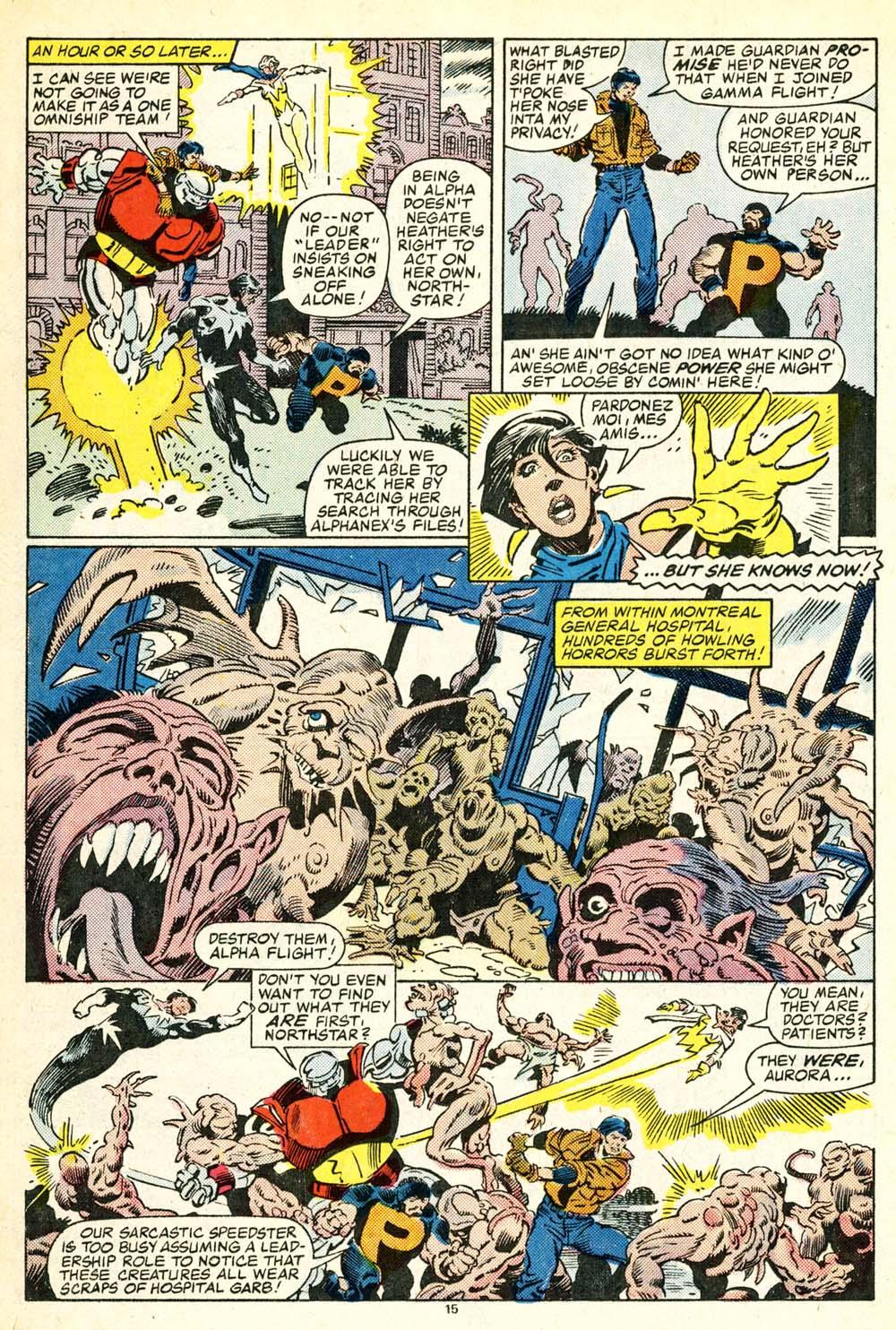 Read online Alpha Flight (1983) comic -  Issue #30 - 16