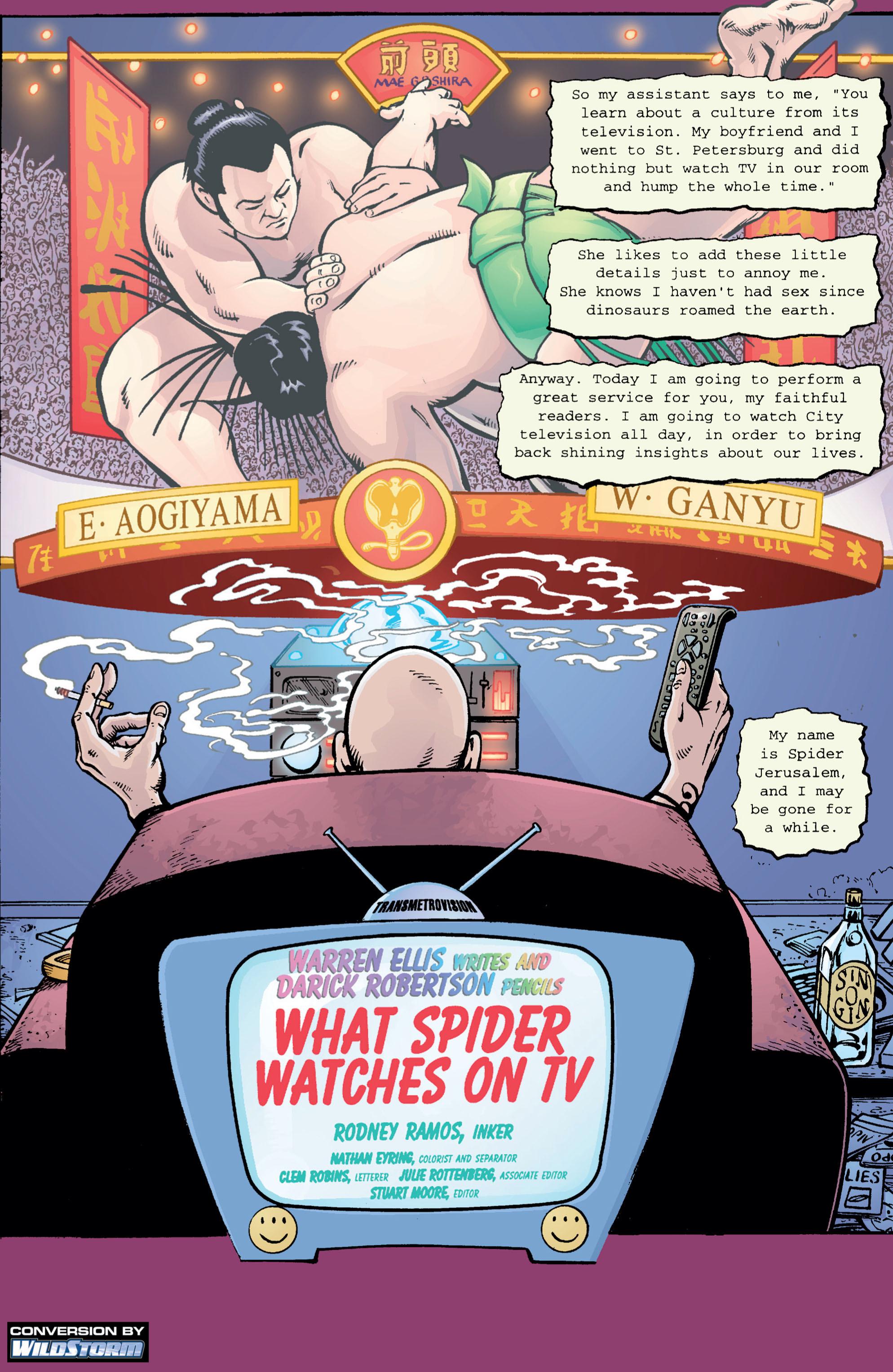 Read online Transmetropolitan comic -  Issue #5 - 2