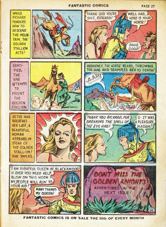 Read online Fantastic Comics comic -  Issue #7 - 29