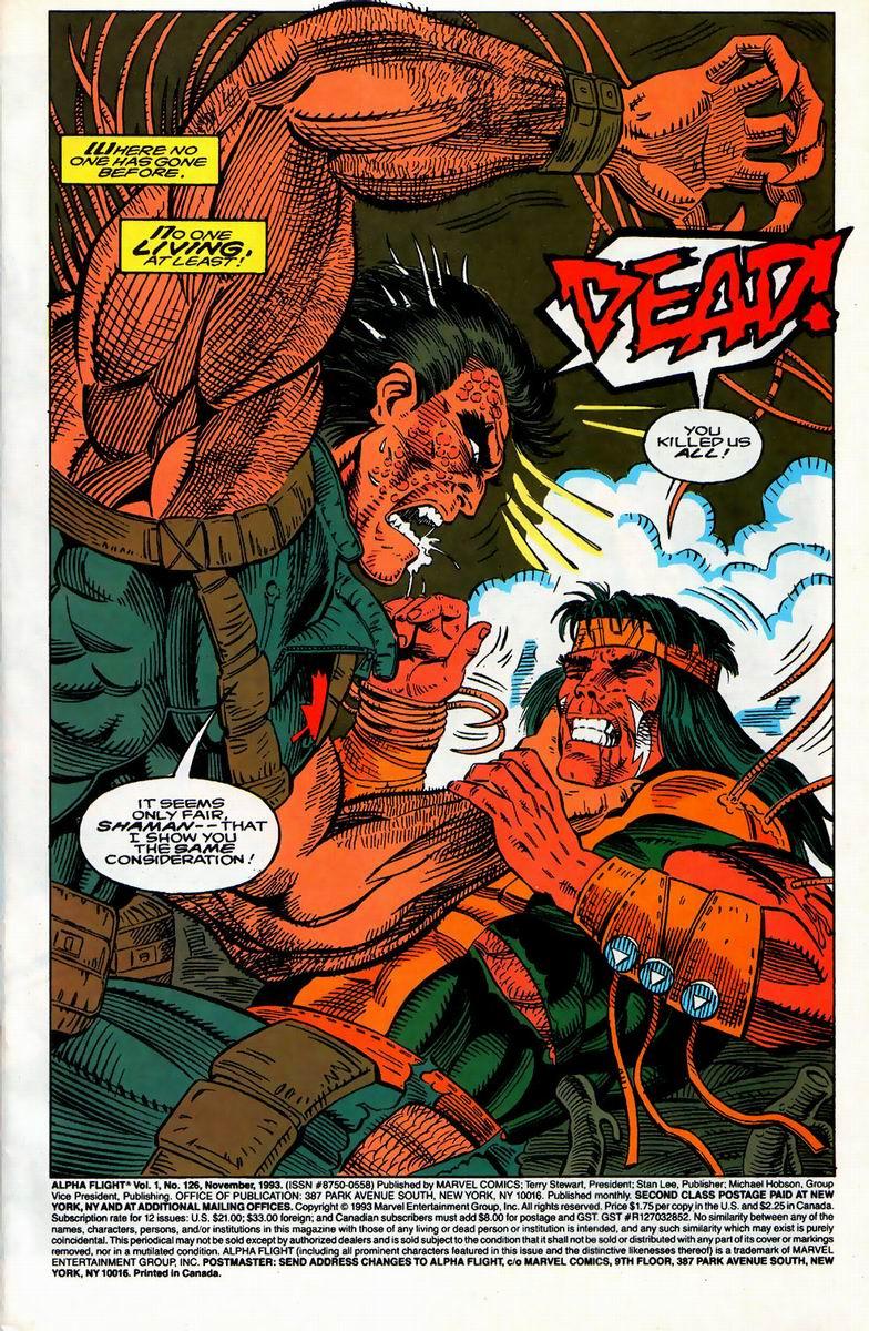 Read online Alpha Flight (1983) comic -  Issue #126 - 2