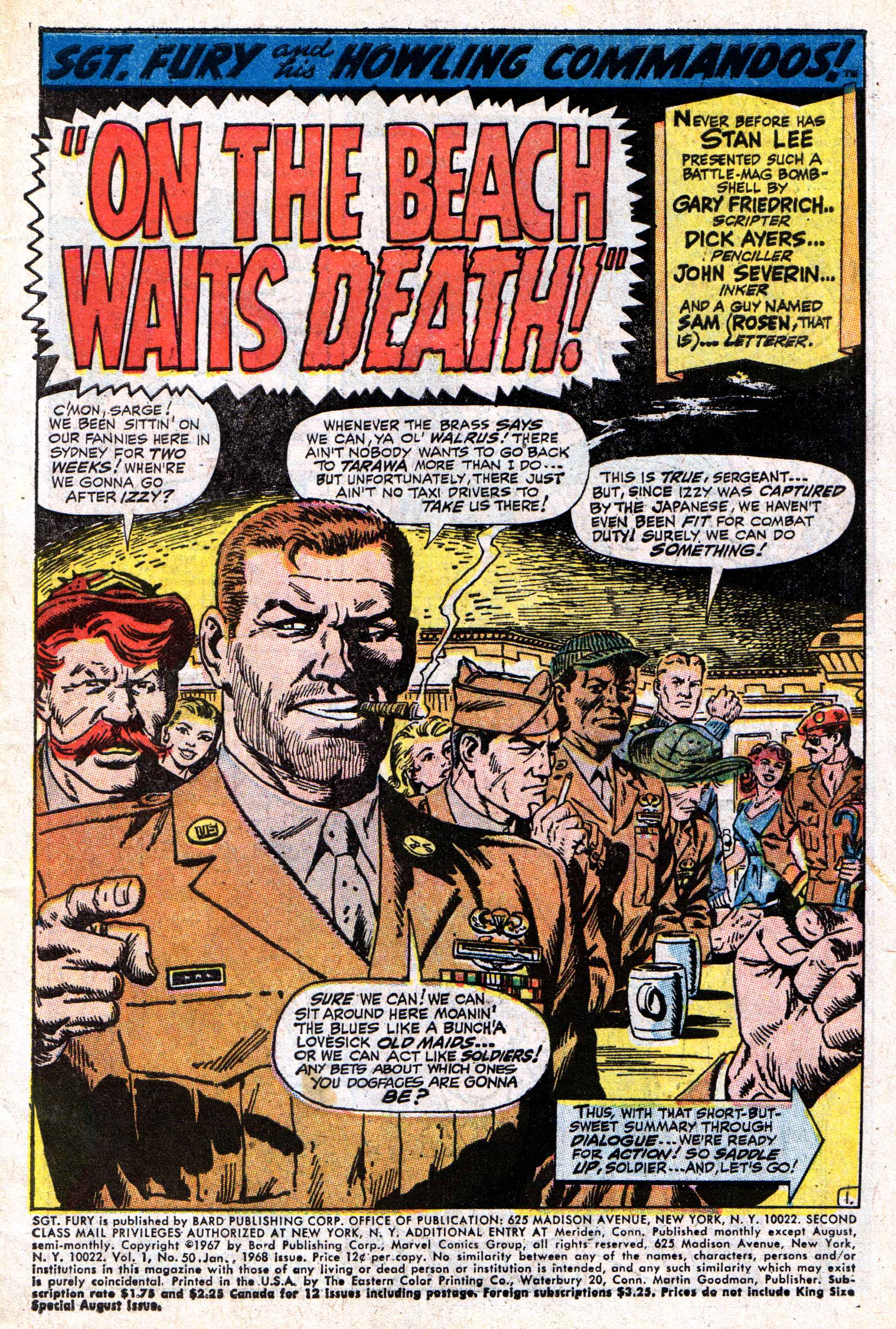 Read online Sgt. Fury comic -  Issue #50 - 3