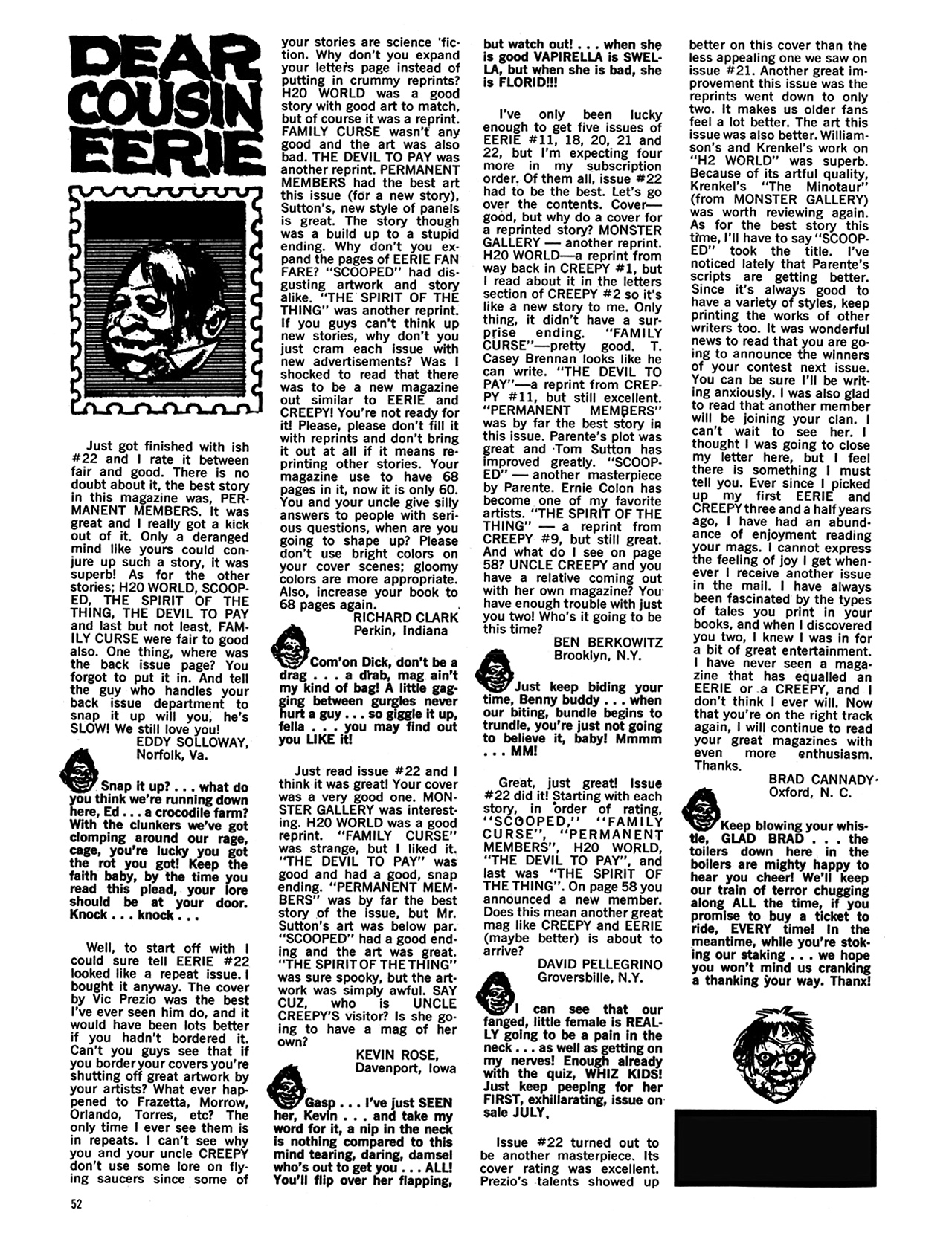 Read online Eerie Archives comic -  Issue # TPB 5 - 53