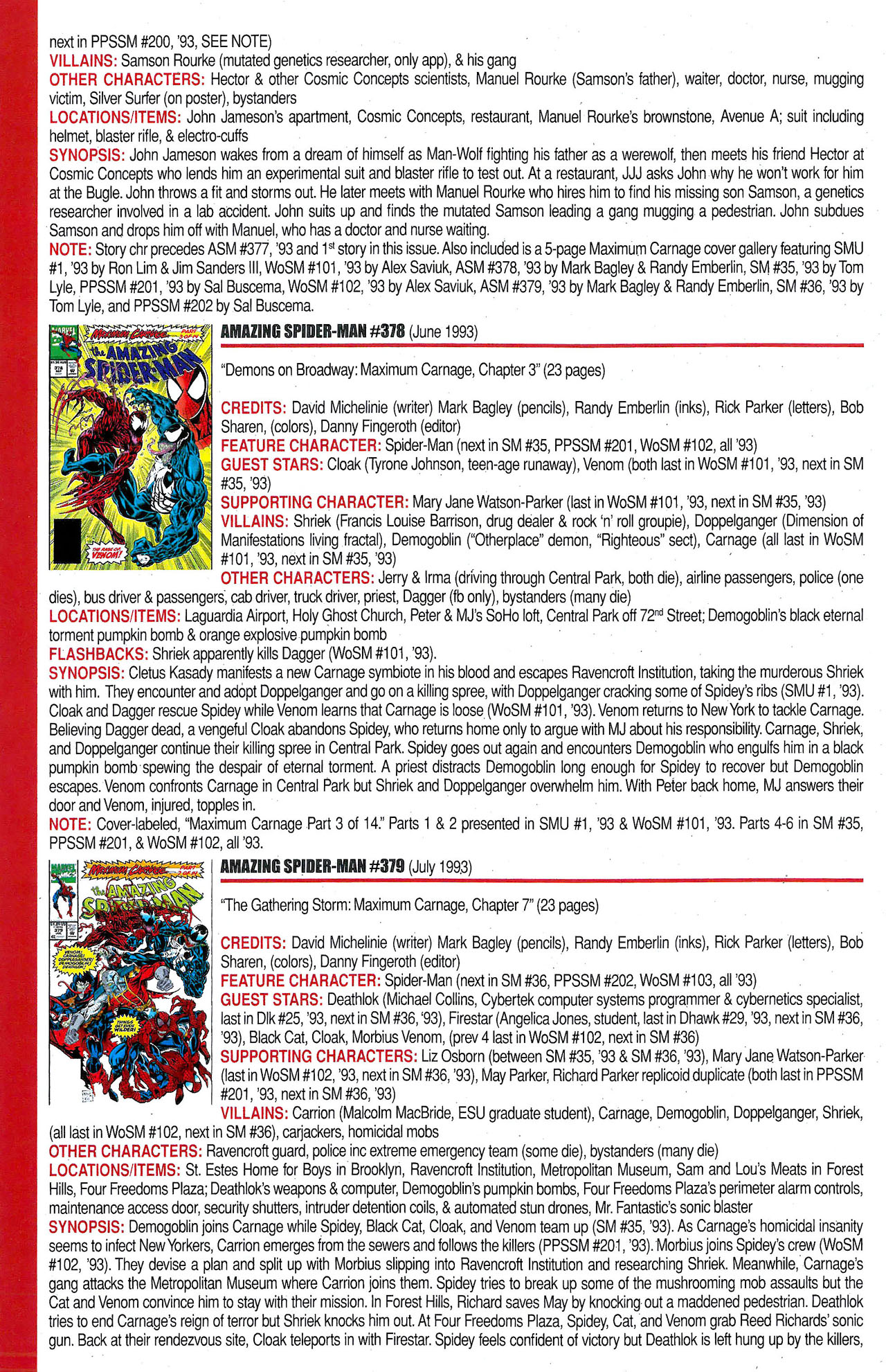 Read online Official Index to the Marvel Universe comic -  Issue #9 - 10