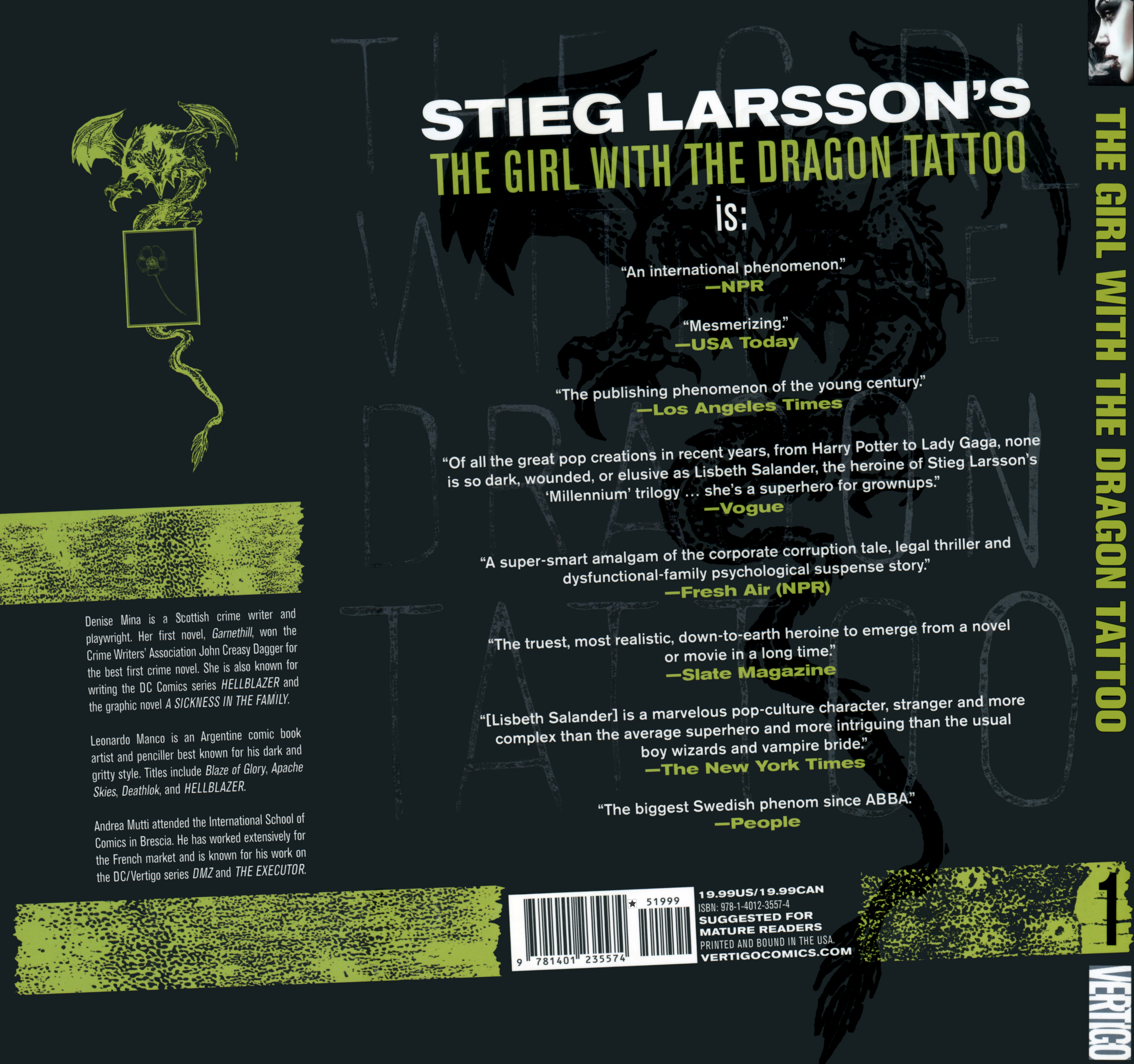 Read online The Girl With the Dragon Tattoo comic -  Issue # TPB 1 - 156
