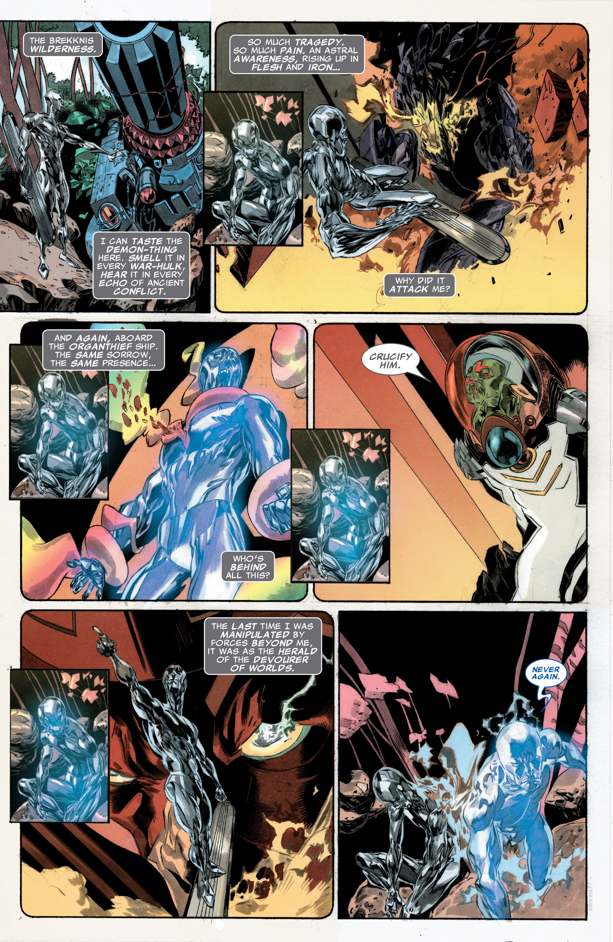 Read online Silver Surfer: In Thy Name comic -  Issue #3 - 9