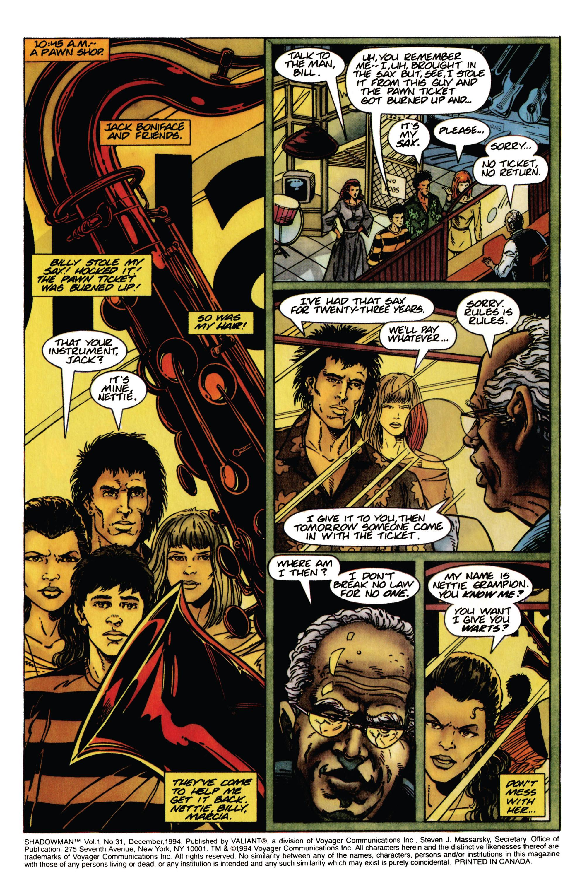 Read online Shadowman (1992) comic -  Issue #31 - 5