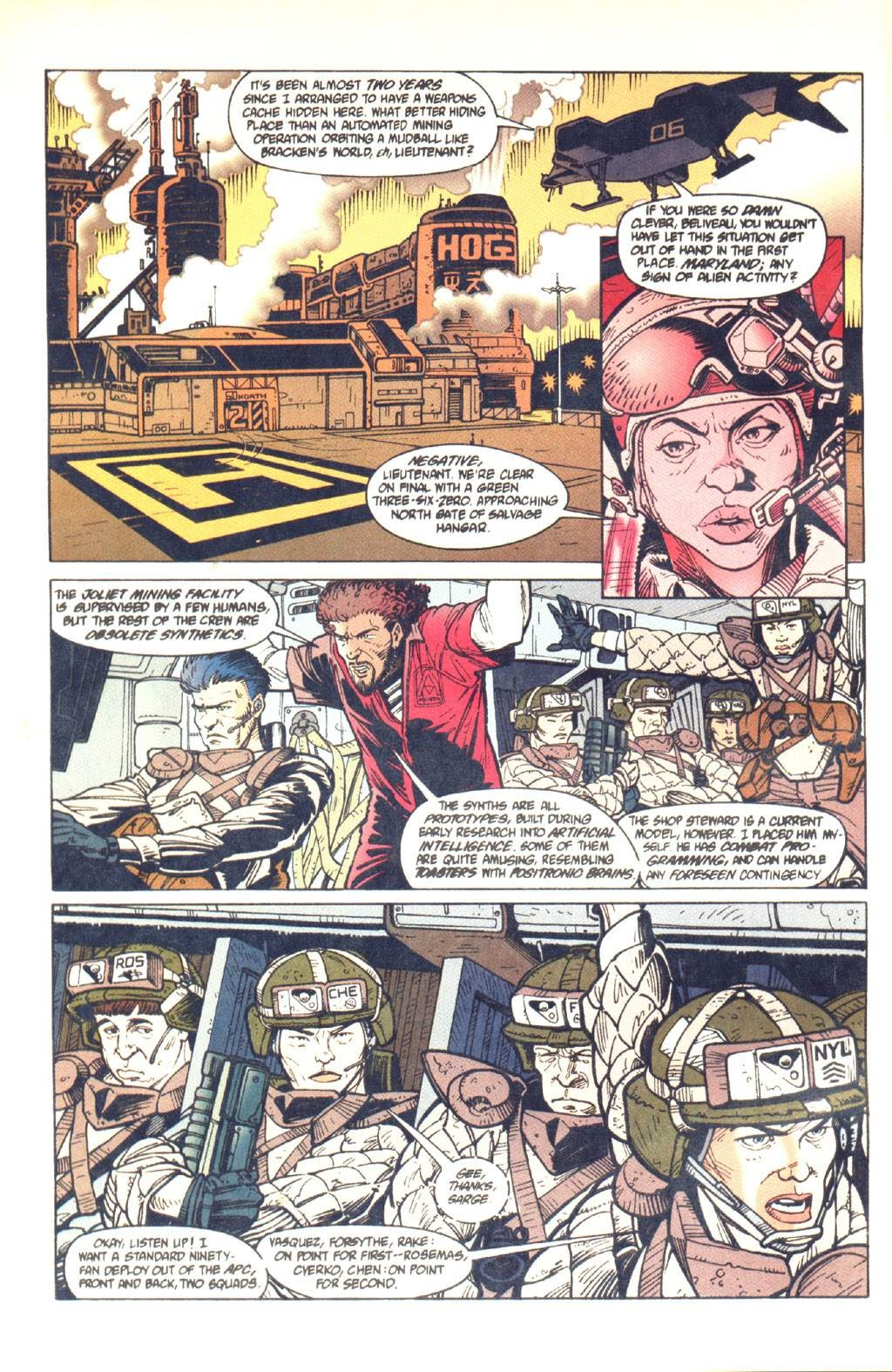 Read online Aliens: Colonial Marines comic -  Issue #7 - 7