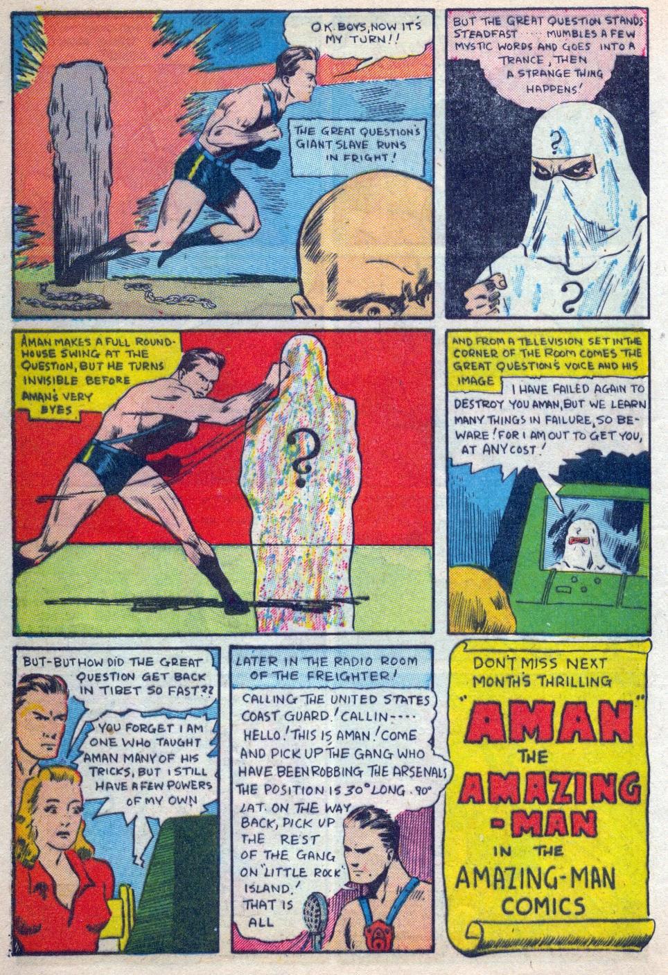 Read online Amazing Man Comics comic -  Issue #15 - 11