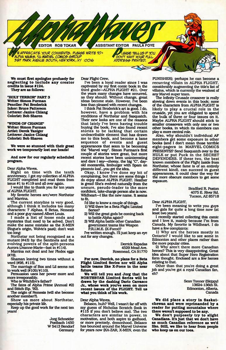 Read online Alpha Flight (1983) comic -  Issue #126 - 23
