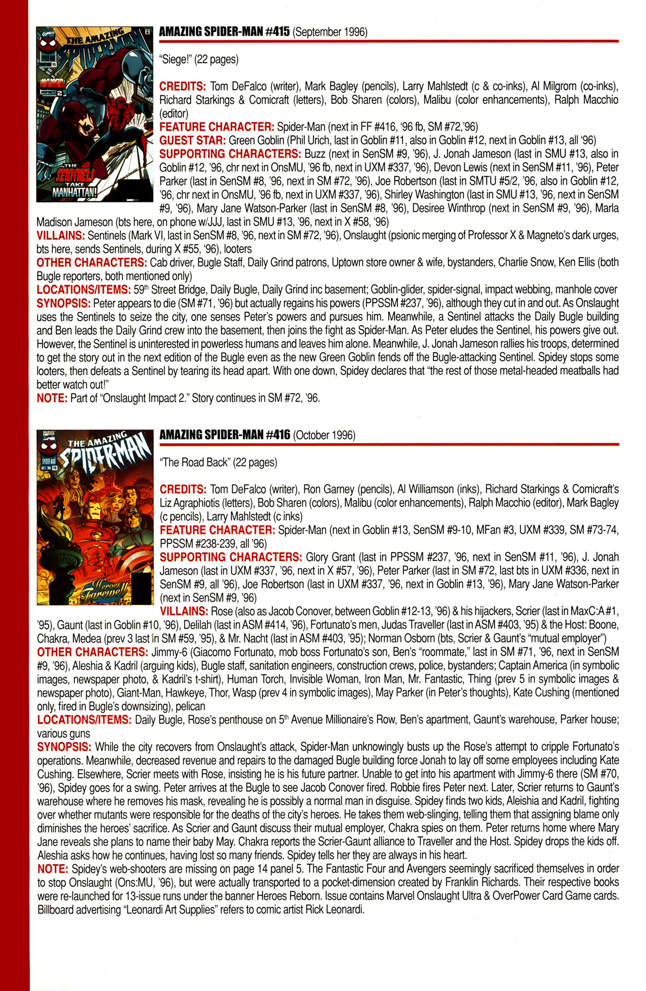 Read online Official Index to the Marvel Universe comic -  Issue #10 - 12