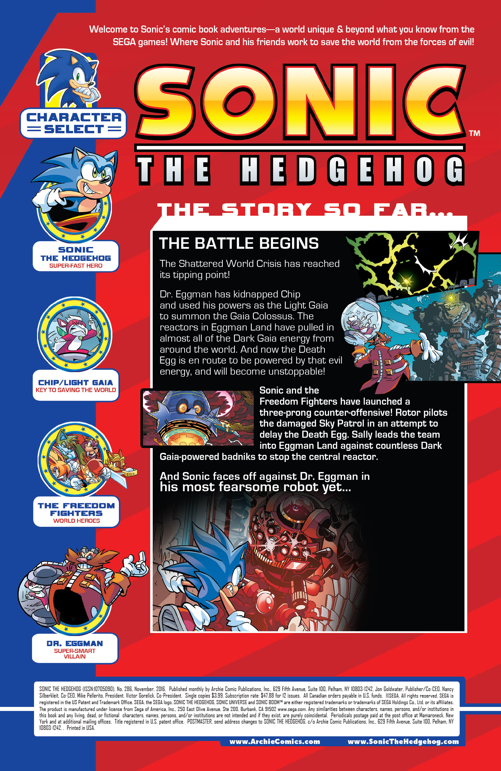 Read online Sonic The Hedgehog comic -  Issue #286 - 2