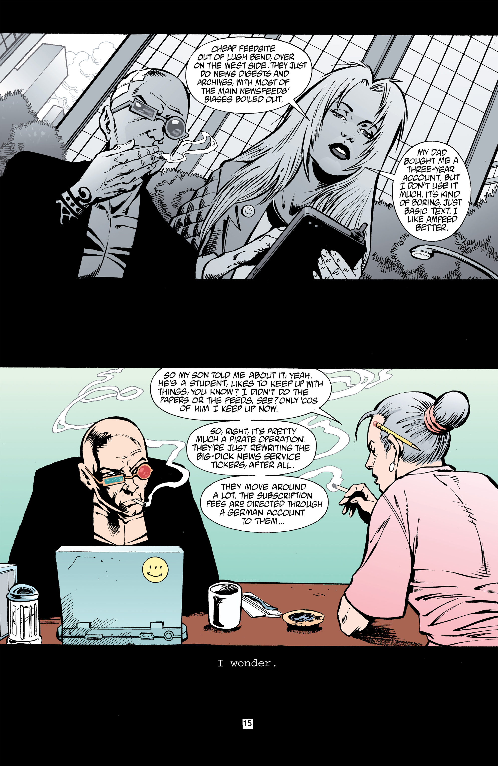 Read online Transmetropolitan comic -  Issue #32 - 16