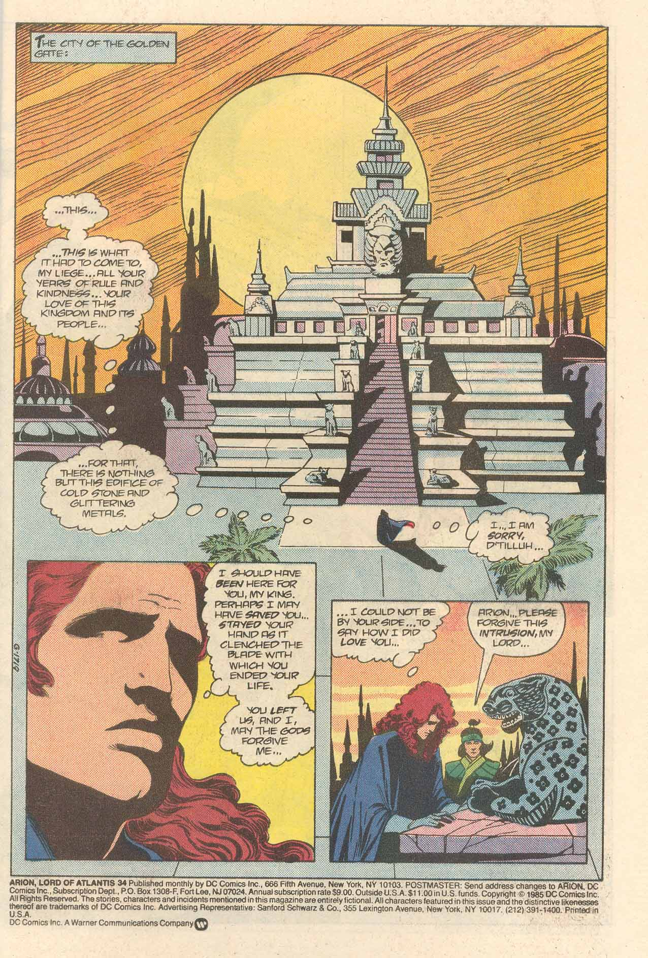 Read online Arion, Lord of Atlantis comic -  Issue #34 - 2
