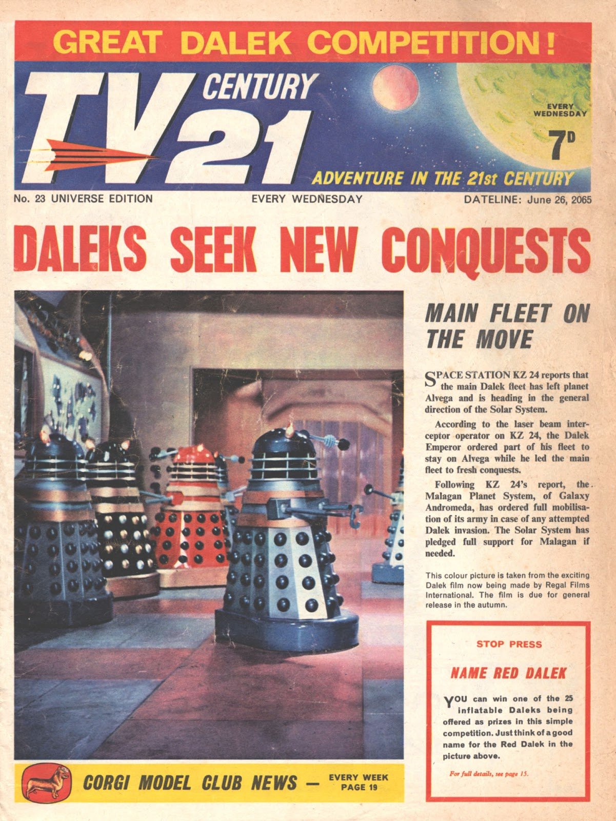 TV Century 21 (TV 21) issue 23 - Page 1
