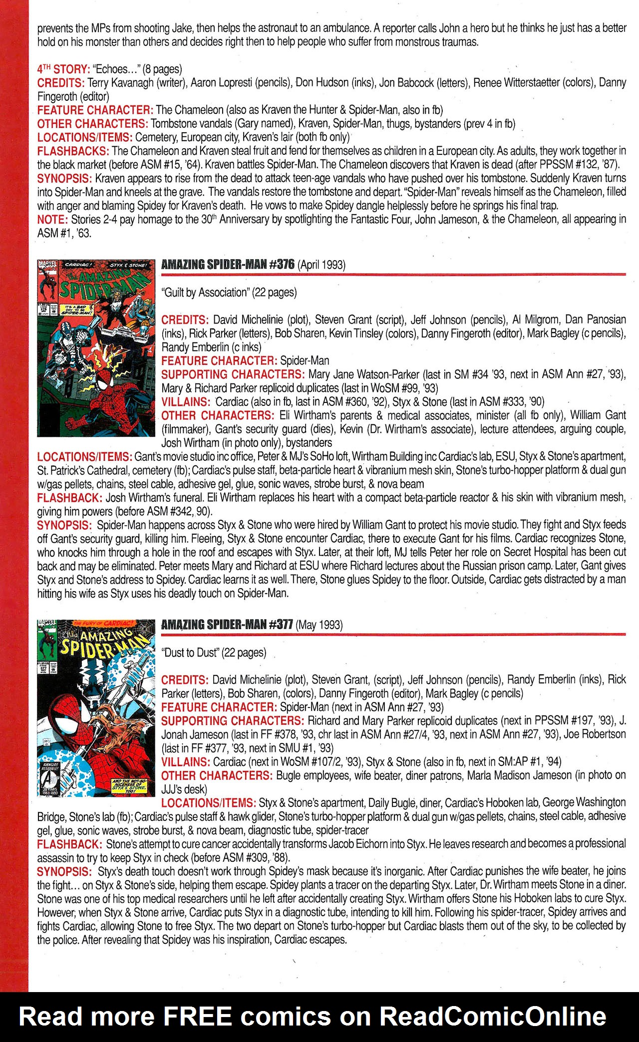 Read online Official Index to the Marvel Universe comic -  Issue #9 - 8