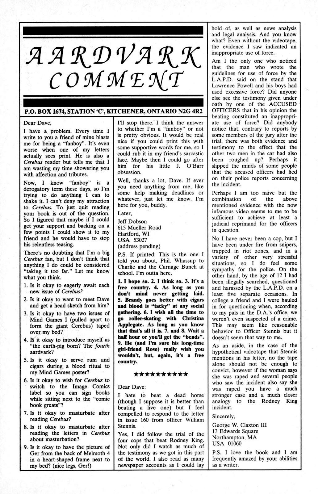 Cerebus Issue #163 #162 - English 23