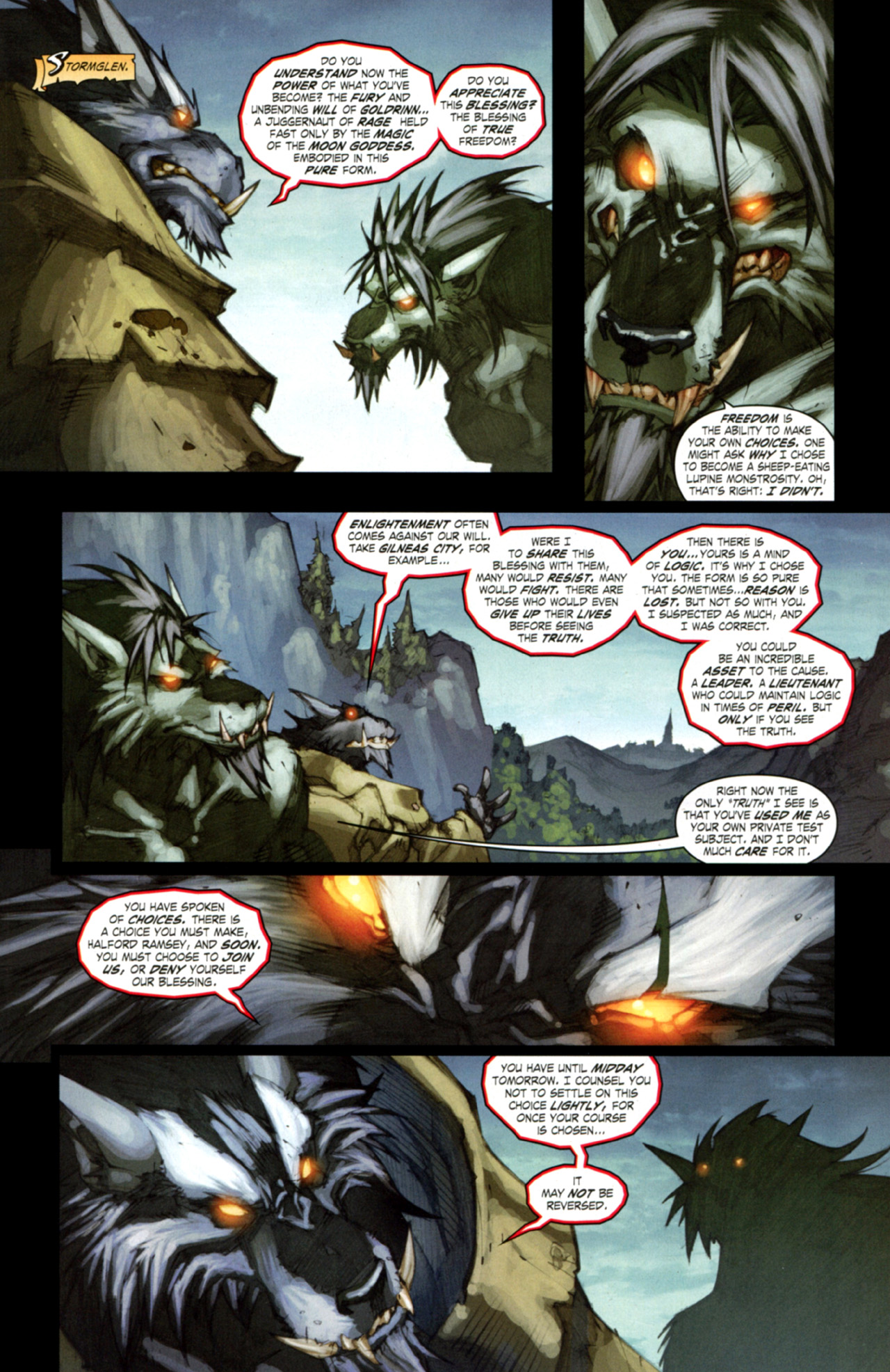 Read online World of Warcraft: Curse of the Worgen comic -  Issue #3 - 14