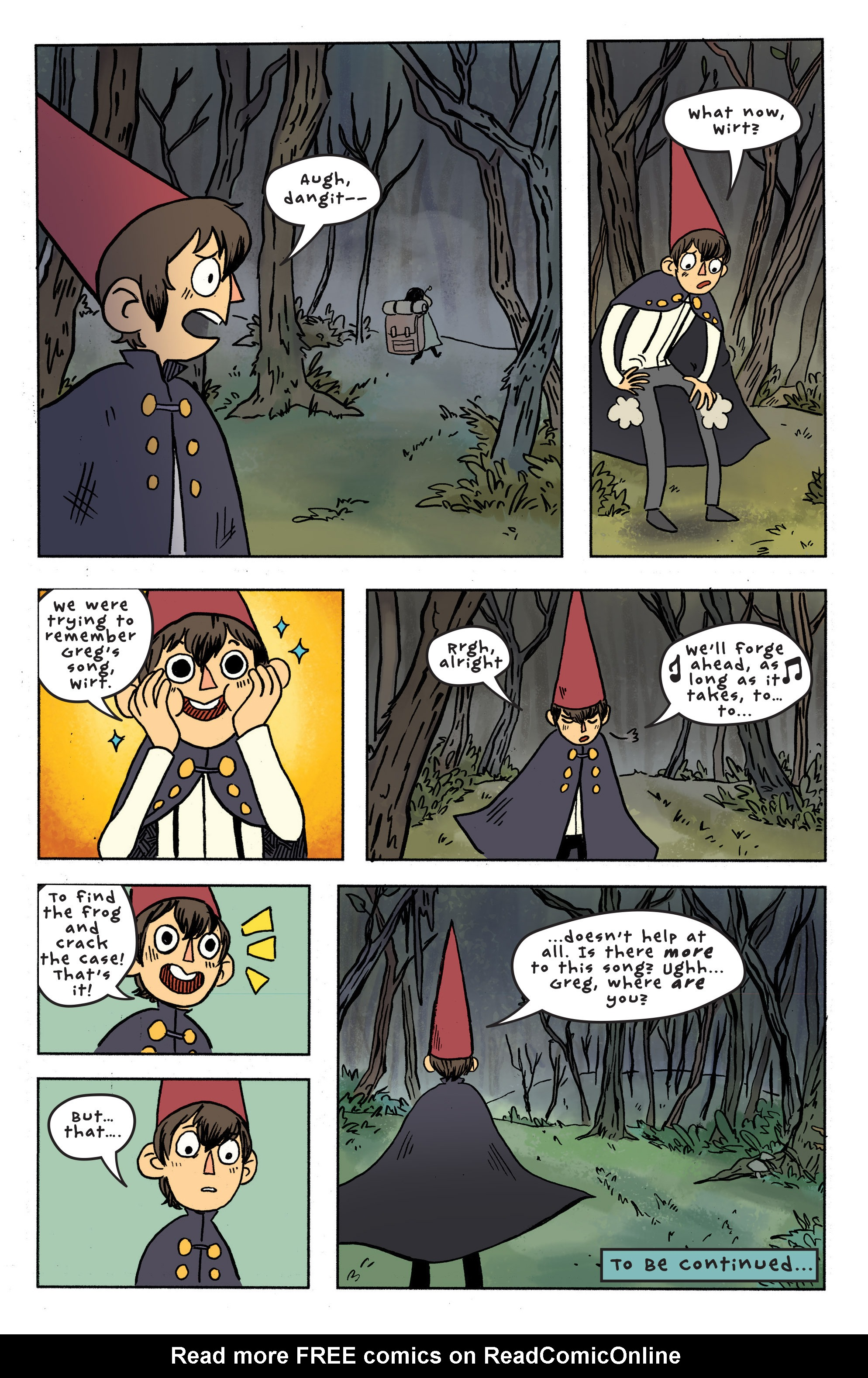 Read Online Over The Garden Wall 2016 Comic Issue 7