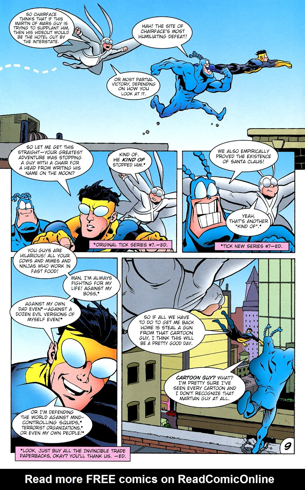 Read online The Tick comic -  Issue #100 - 11