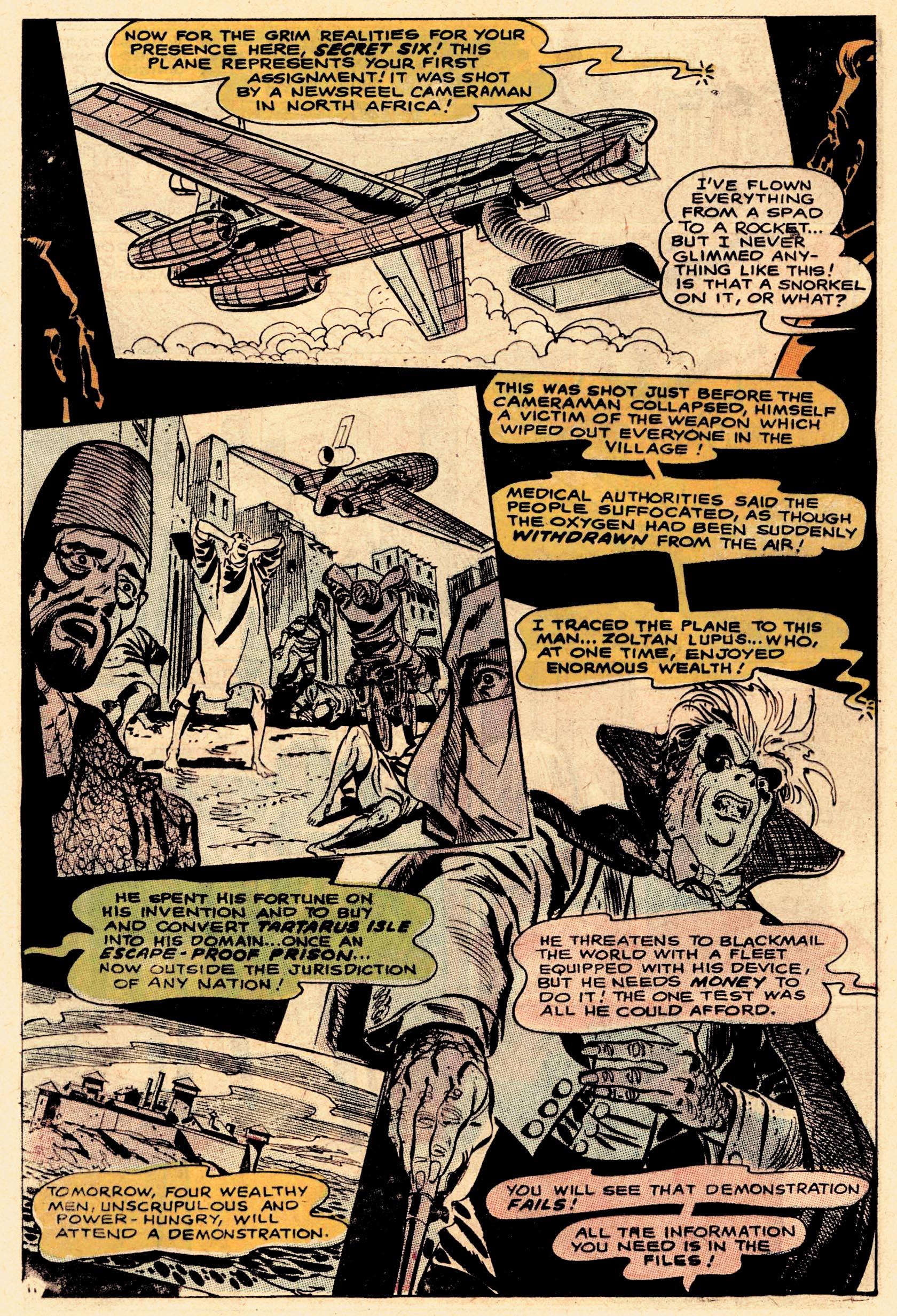 Read online Secret Six (1968) comic -  Issue #1 - 16