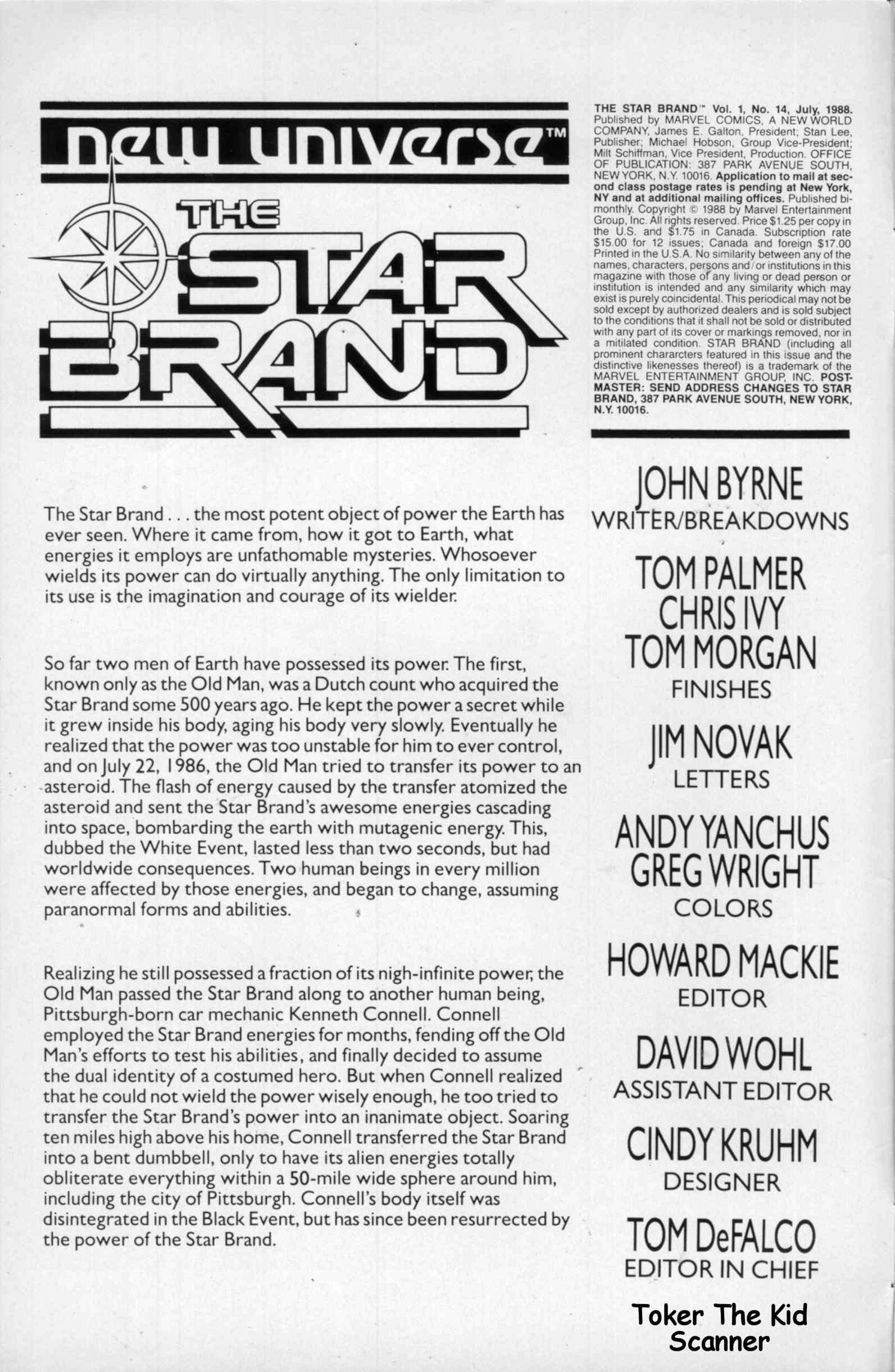 Read online Star Brand comic -  Issue #14 - 2