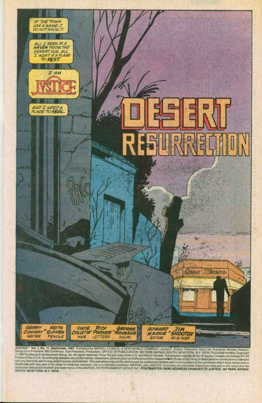Read online Justice (1986) comic -  Issue #11 - 2