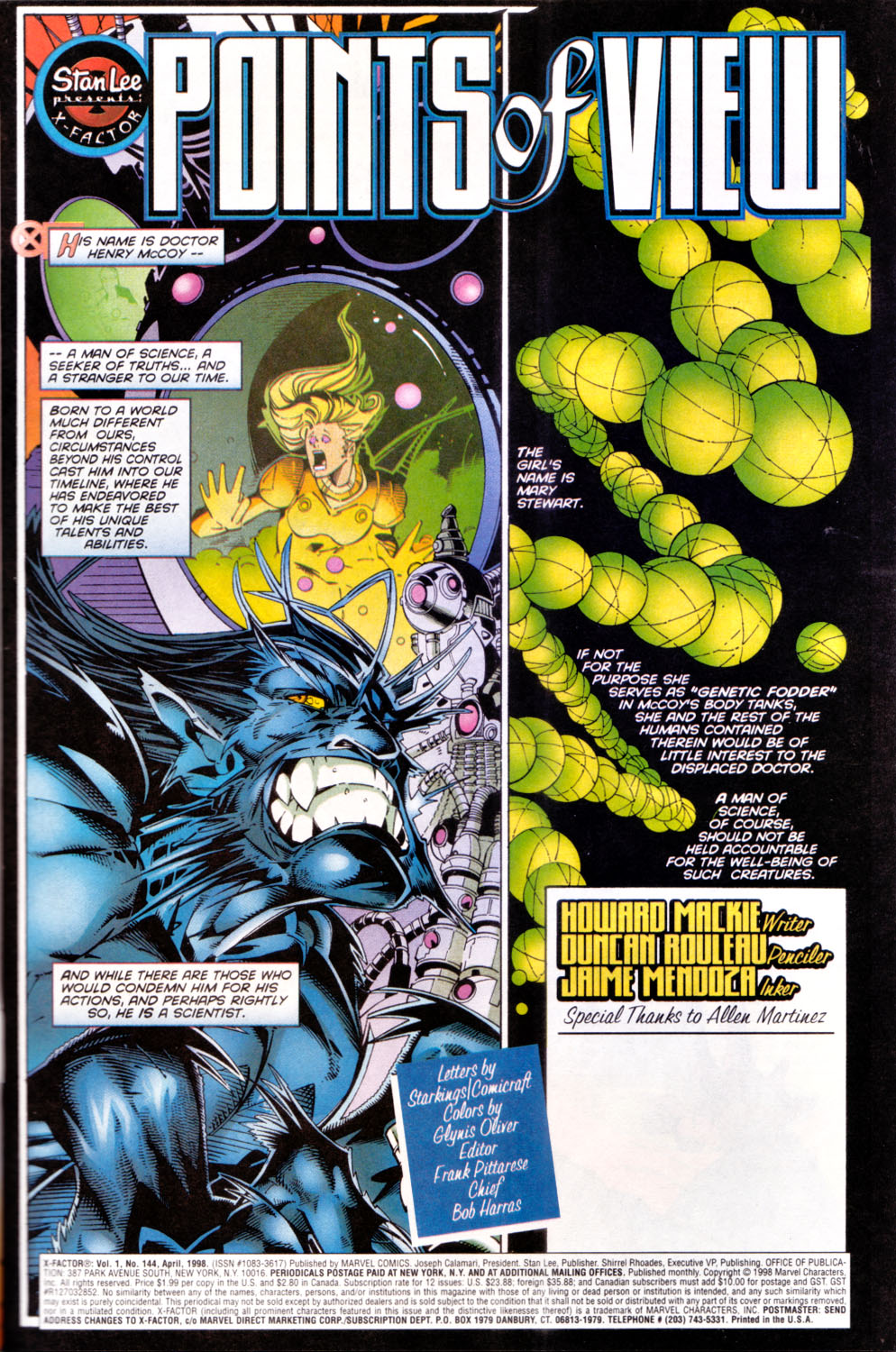 Read online X-Factor (1986) comic -  Issue #144 - 2