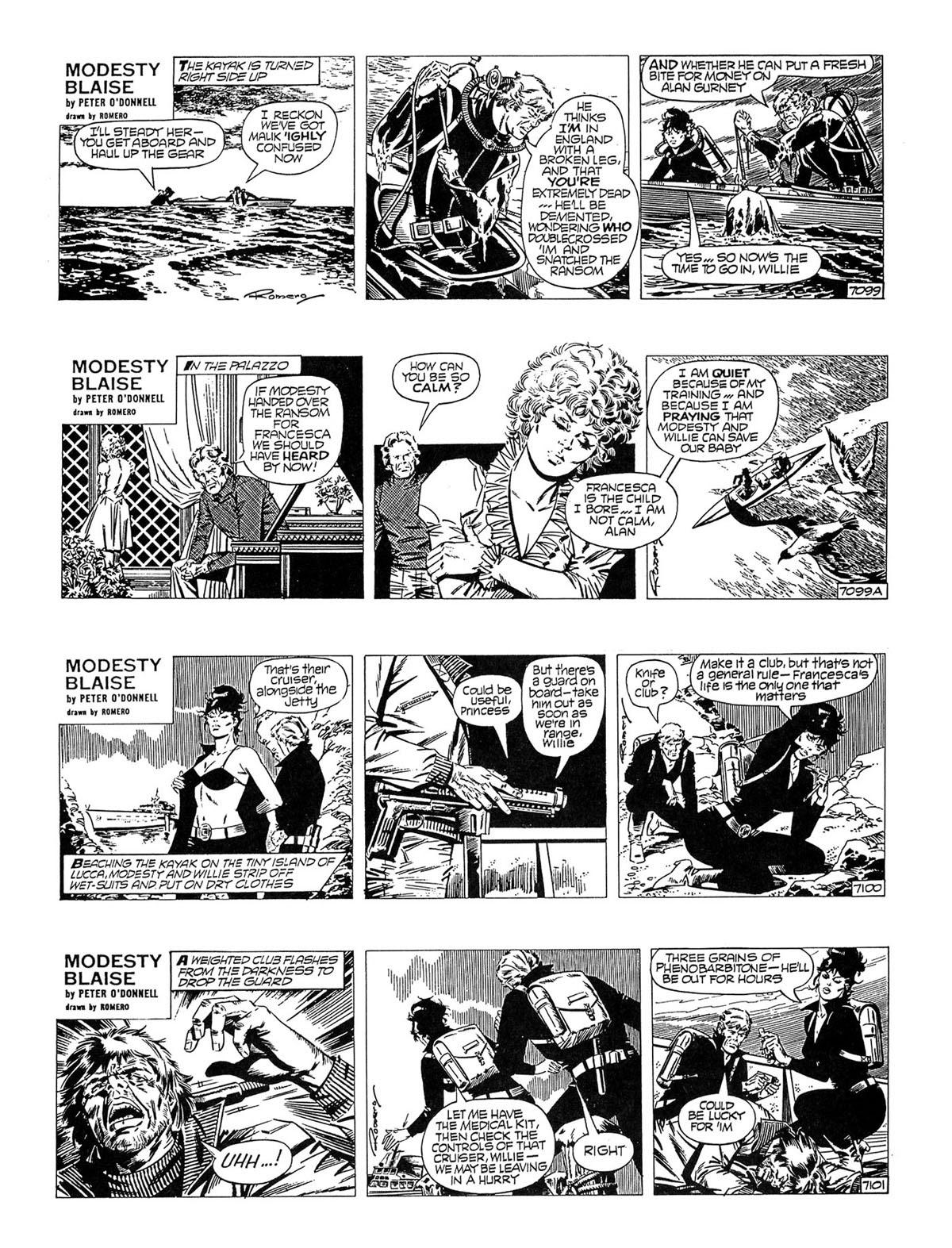 Read online Modesty Blaise Live bait comic -  Issue # TPB - 21
