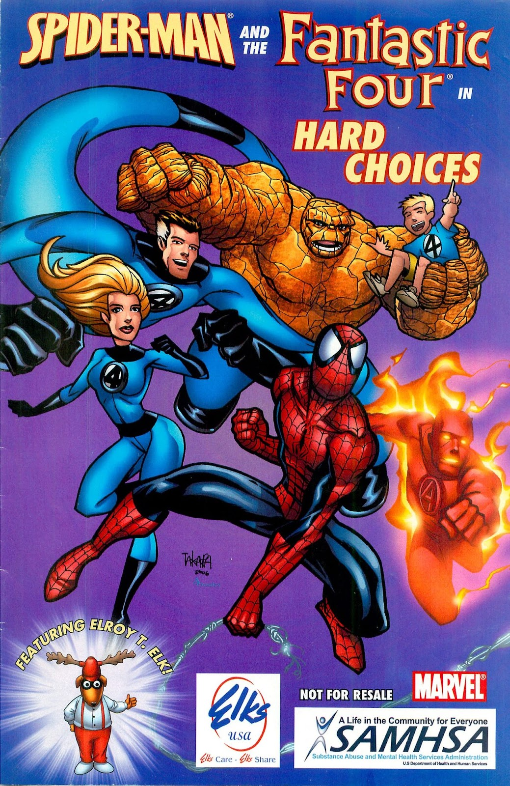 Spider-Man and the Fantastic Four in Hard Choices Full Page 1