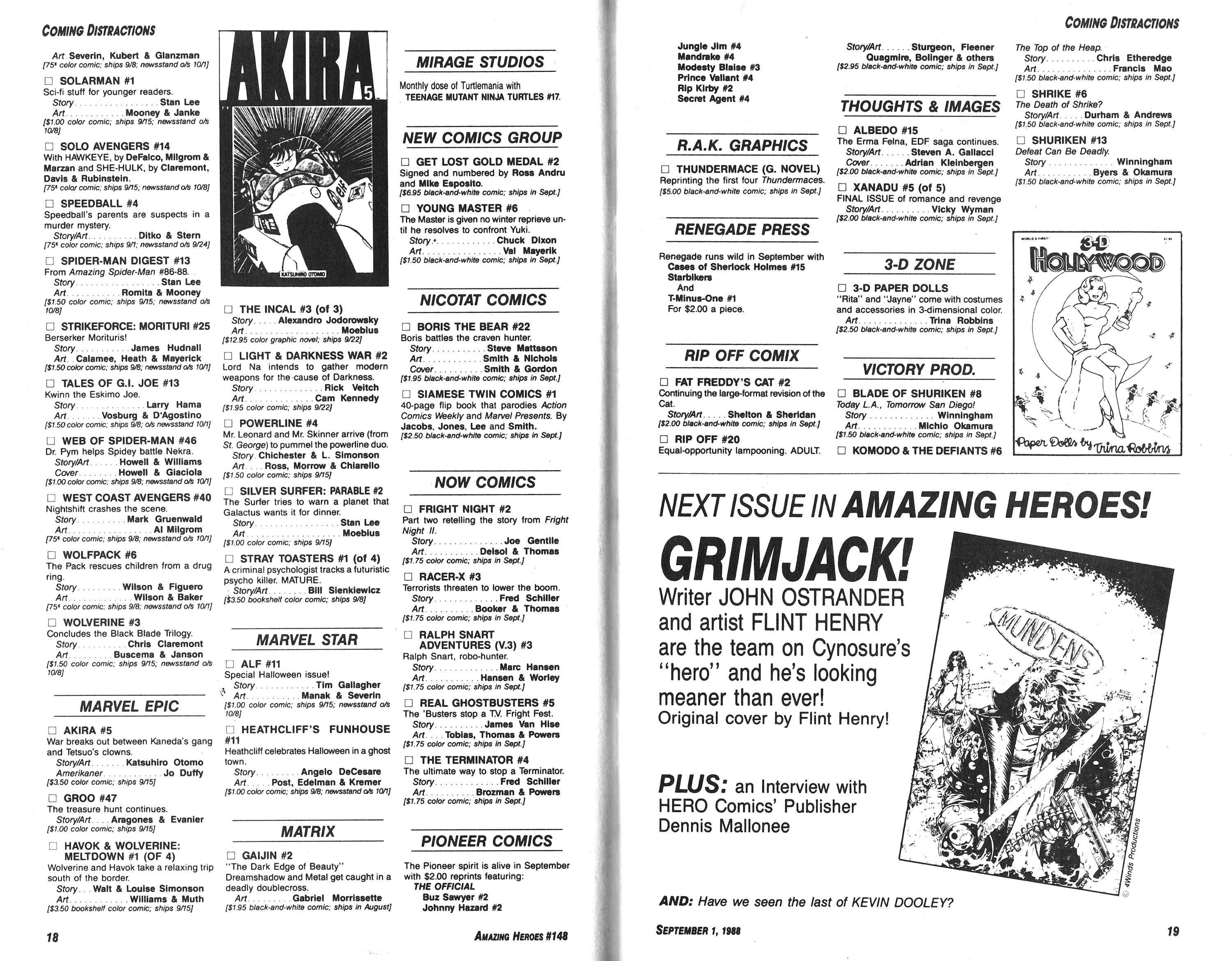 Read online Amazing Heroes comic -  Issue #148 - 10