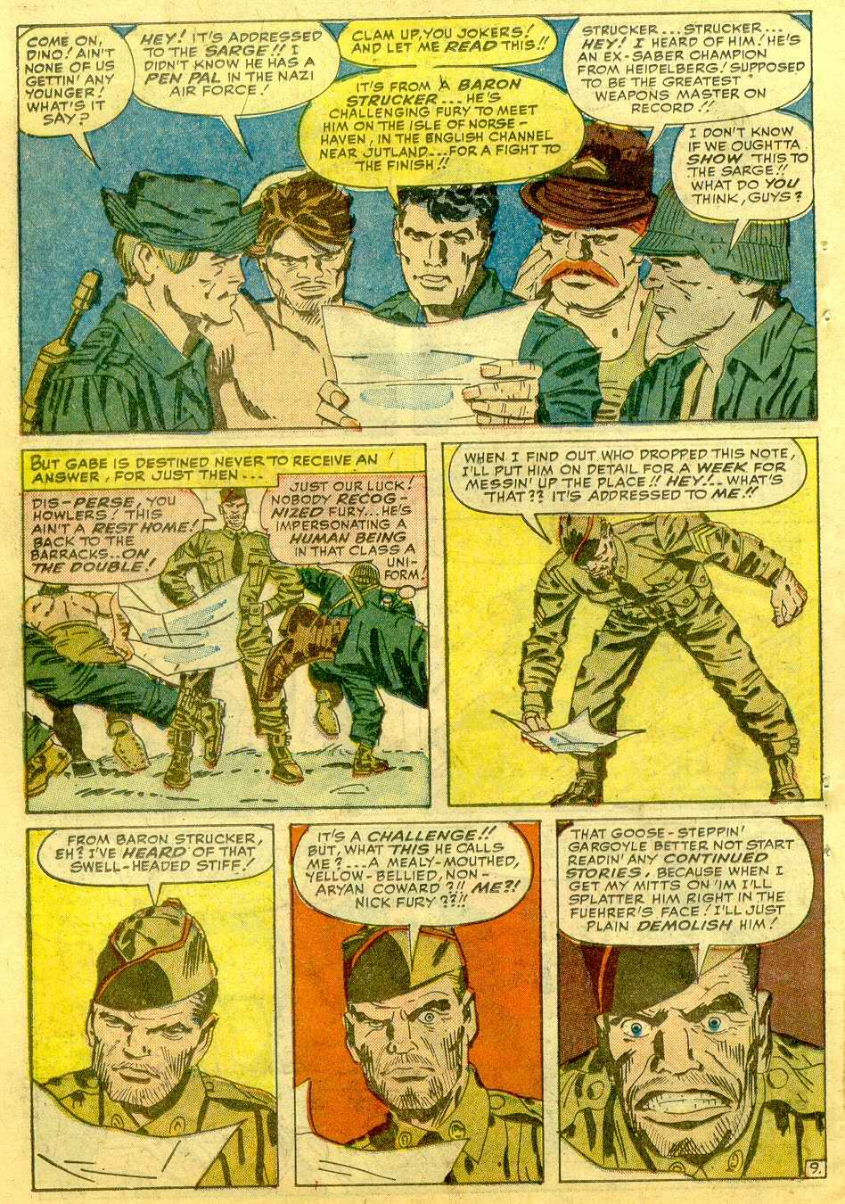 Read online Sgt. Fury comic -  Issue # _Annual 1 - 56
